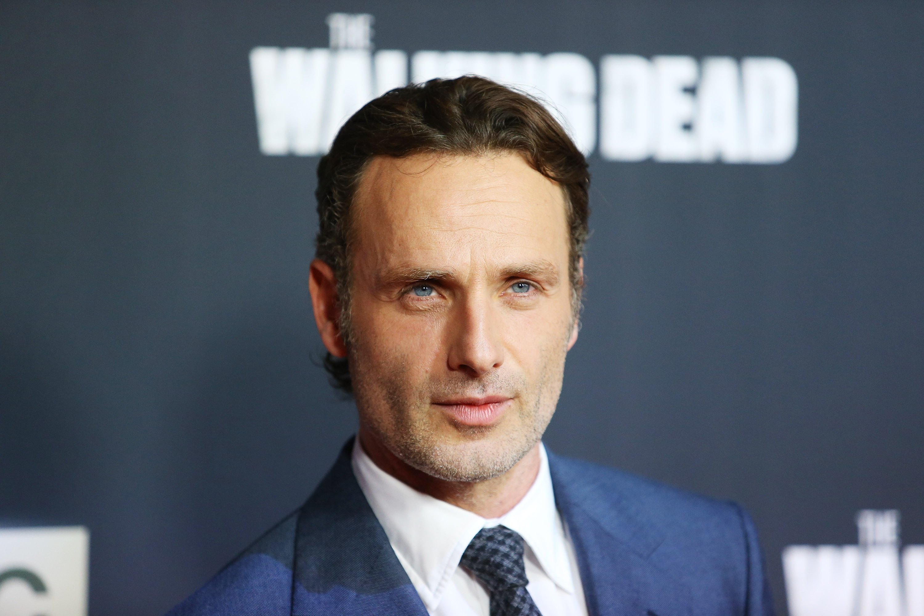 Andrew Lincoln arrives at AMC's  The Walking Dead  Season 5 Premiere held at AMC Universal City Walk.