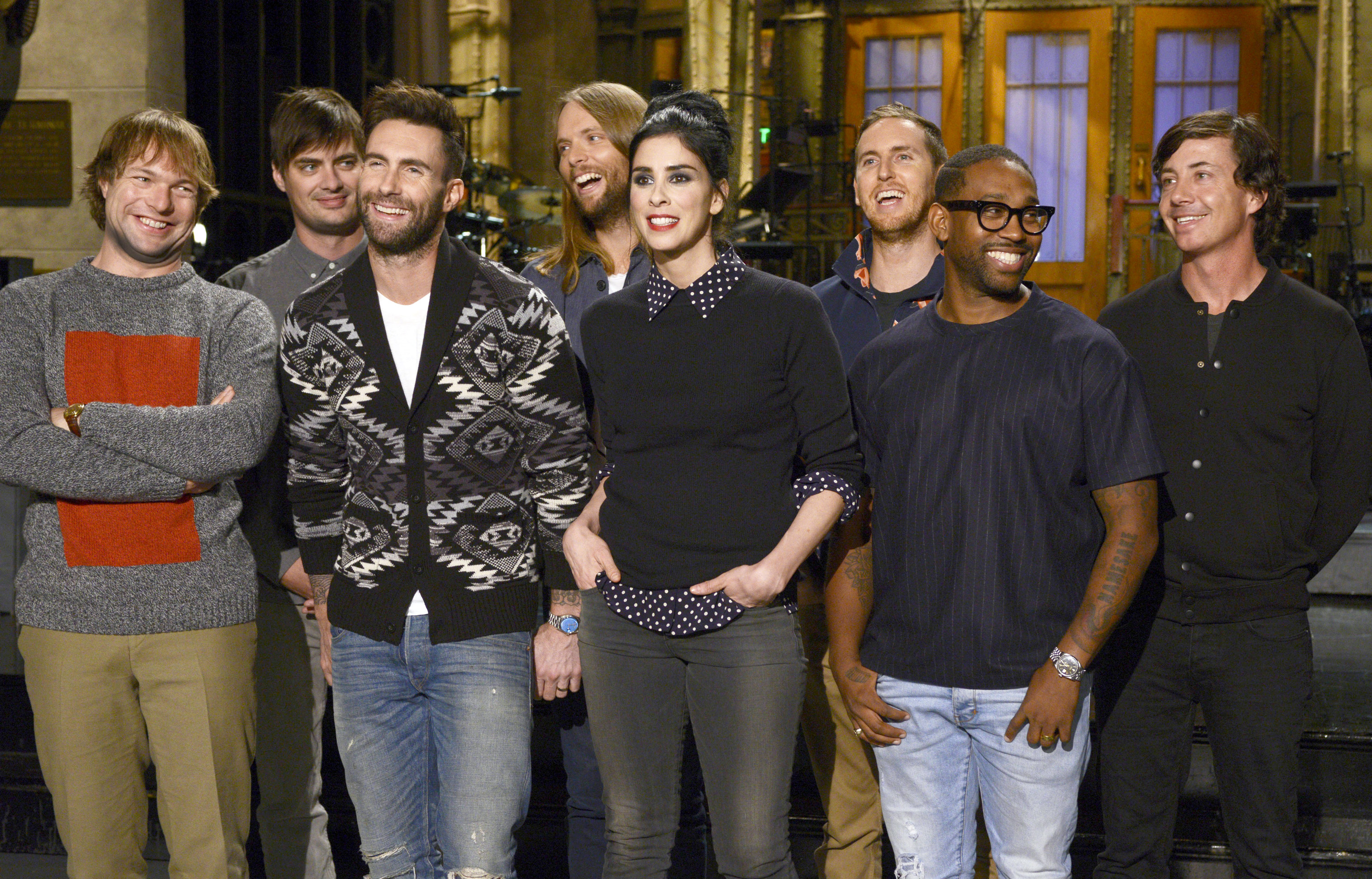 Sarah Silverman hosts Saturday Night Live with musical guest Maroon 5 on Oct. 2, 2014
