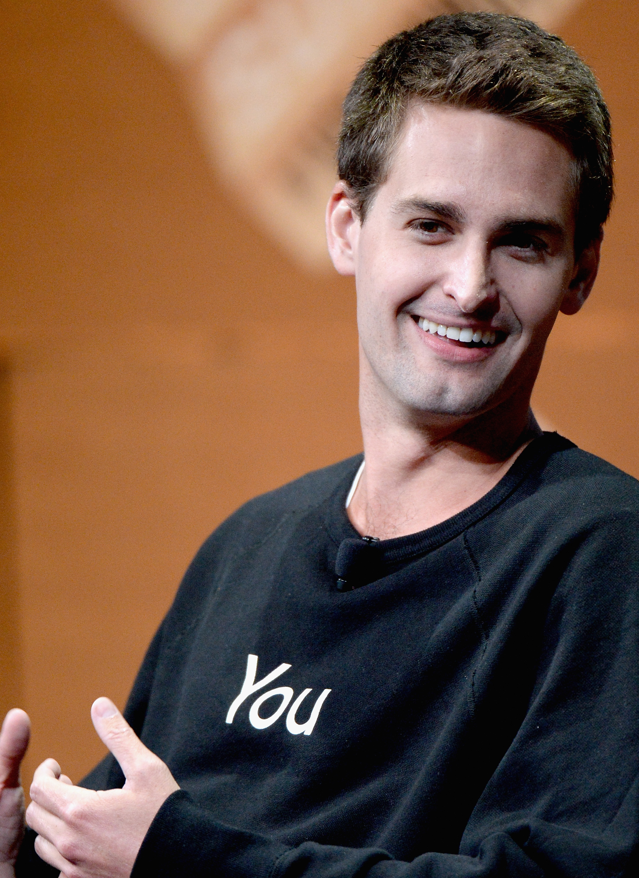 Snapchat CEO Evan Spiegel speaks onstage during  Disrupting Information and Communication  at the Vanity Fair New Establishment Summit on Oct. 8, 2014 in San Francisco.