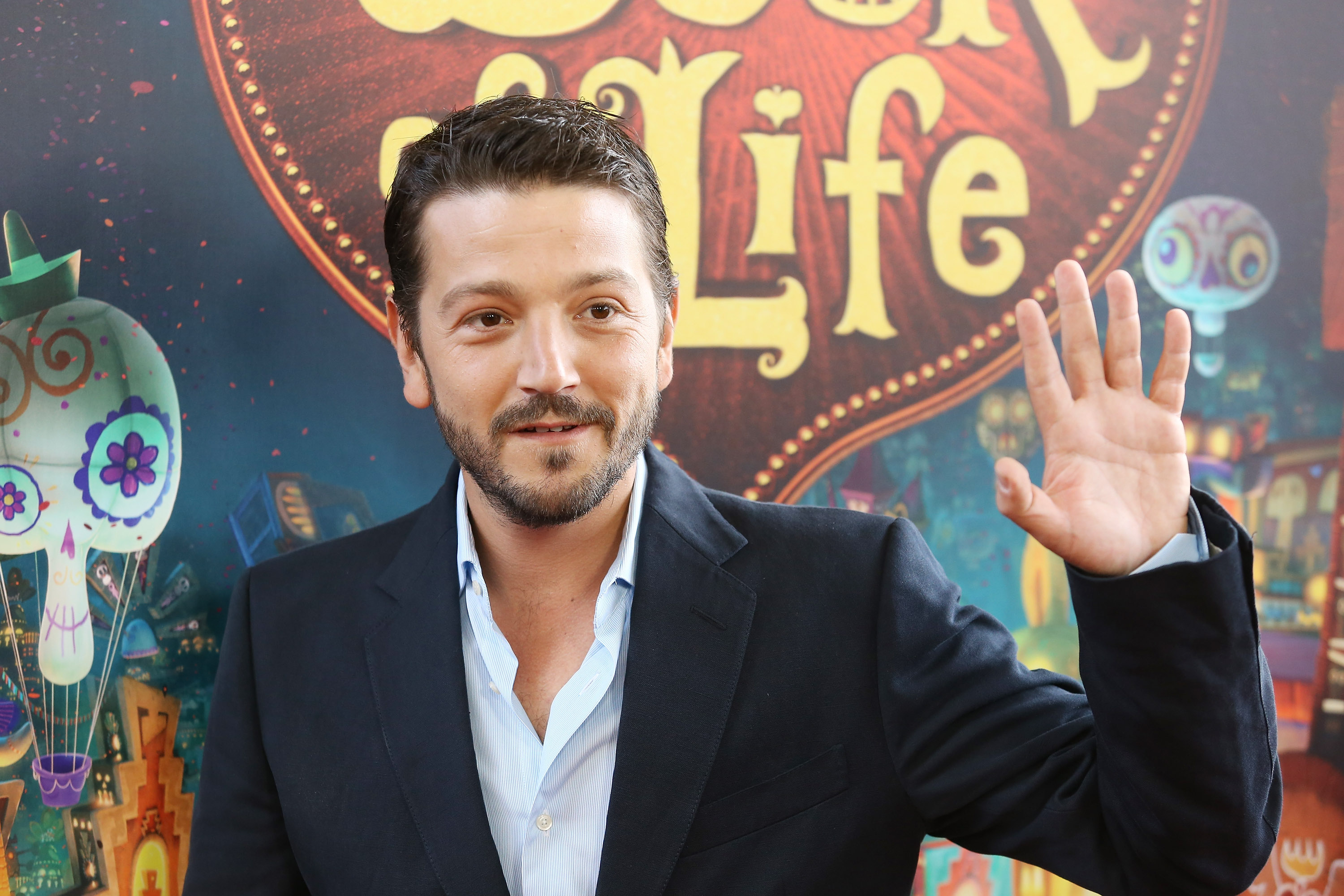 Diego Luna arrives at the Los Angeles premiere of  Book Of Life  held at Regal Cinemas L.A. Live on October 12, 2014 in Los Angeles, California.