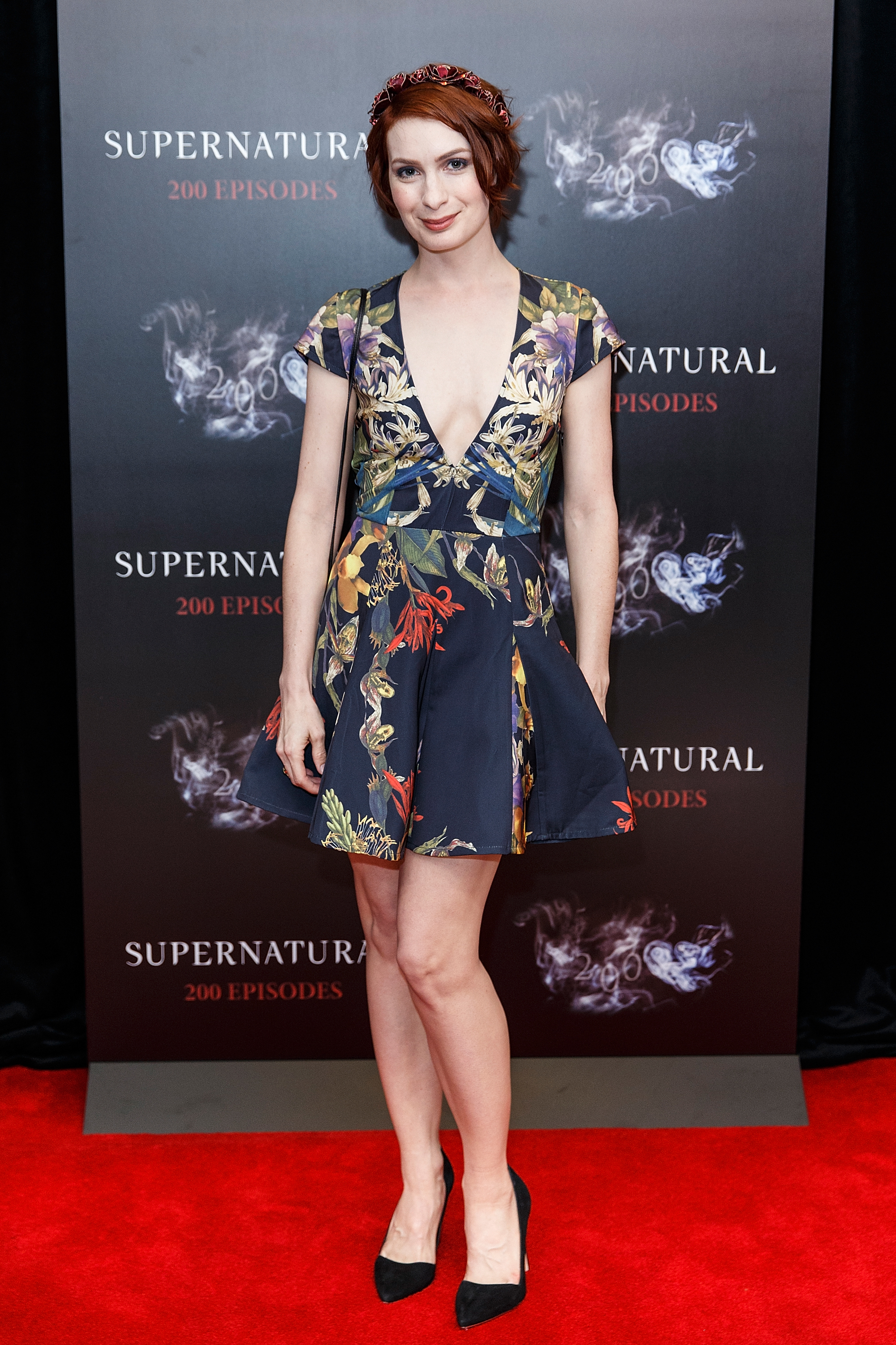 Actress Felicia Day celebrates the 200th episode of 'Supernatural' at Fairmont Pacific Rim Hotel on October 18, 2014 in Vancouver, Canada.