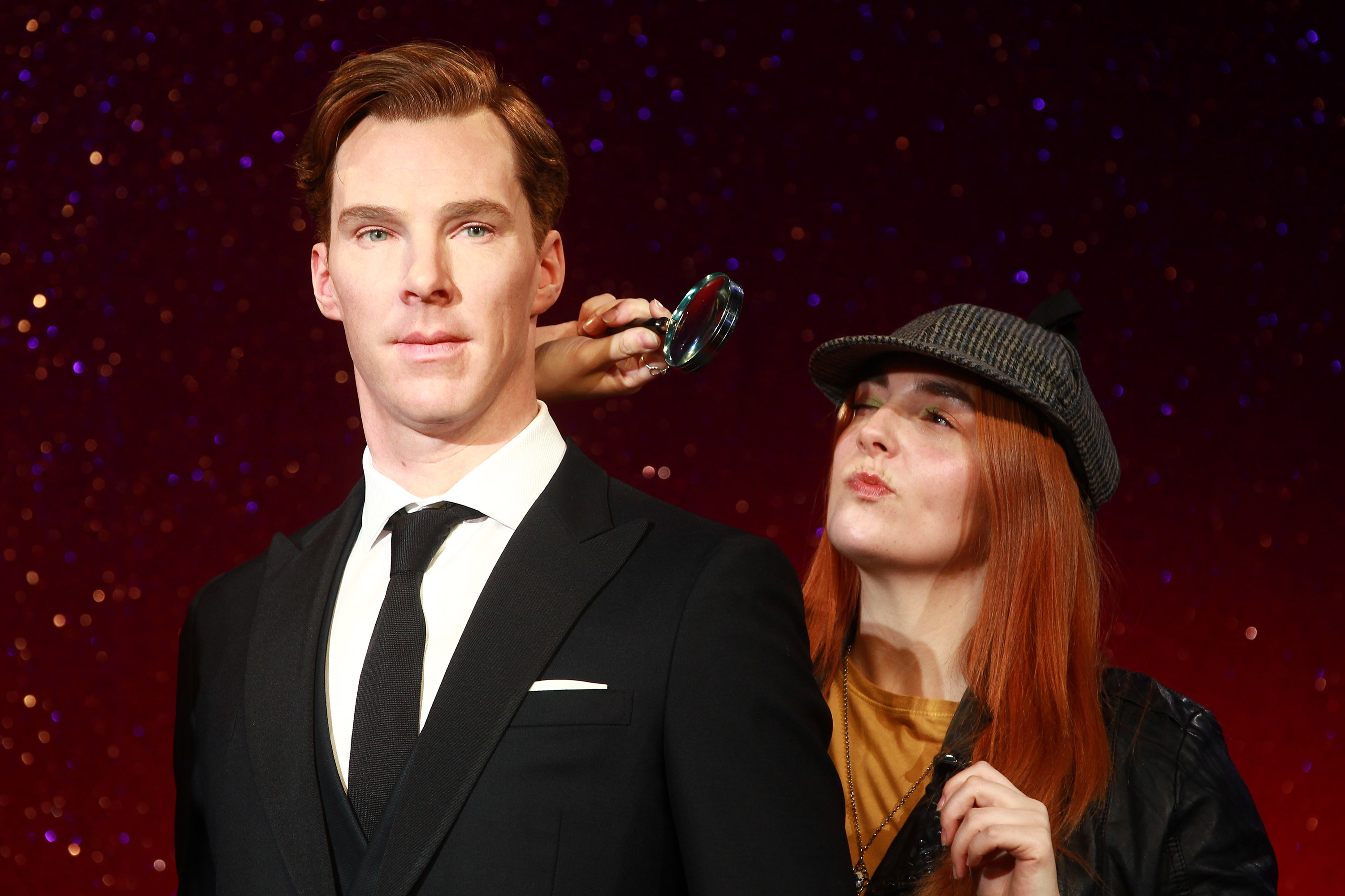 The unveiling of the new wax figure of Benedict Cumberbatch at Madame Tussauds