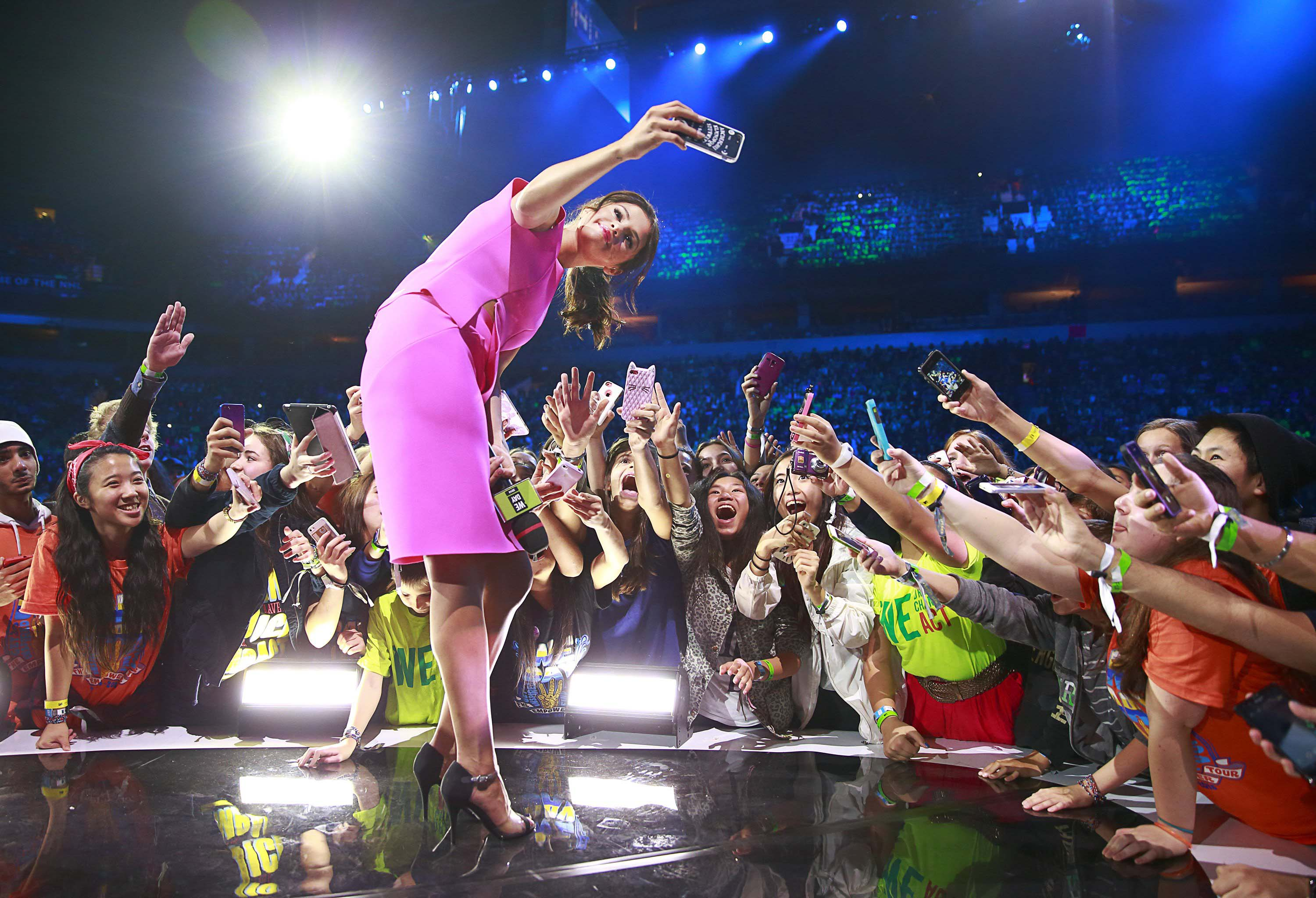 Actress, multi-platinum recording artist and UNICEF Goodwill Ambassador, Selena Gomez inspires 20,000 students at We Day at Rogers Arena on Oct. 22, 2014 in Vancouver, British Columbia, Canada.
