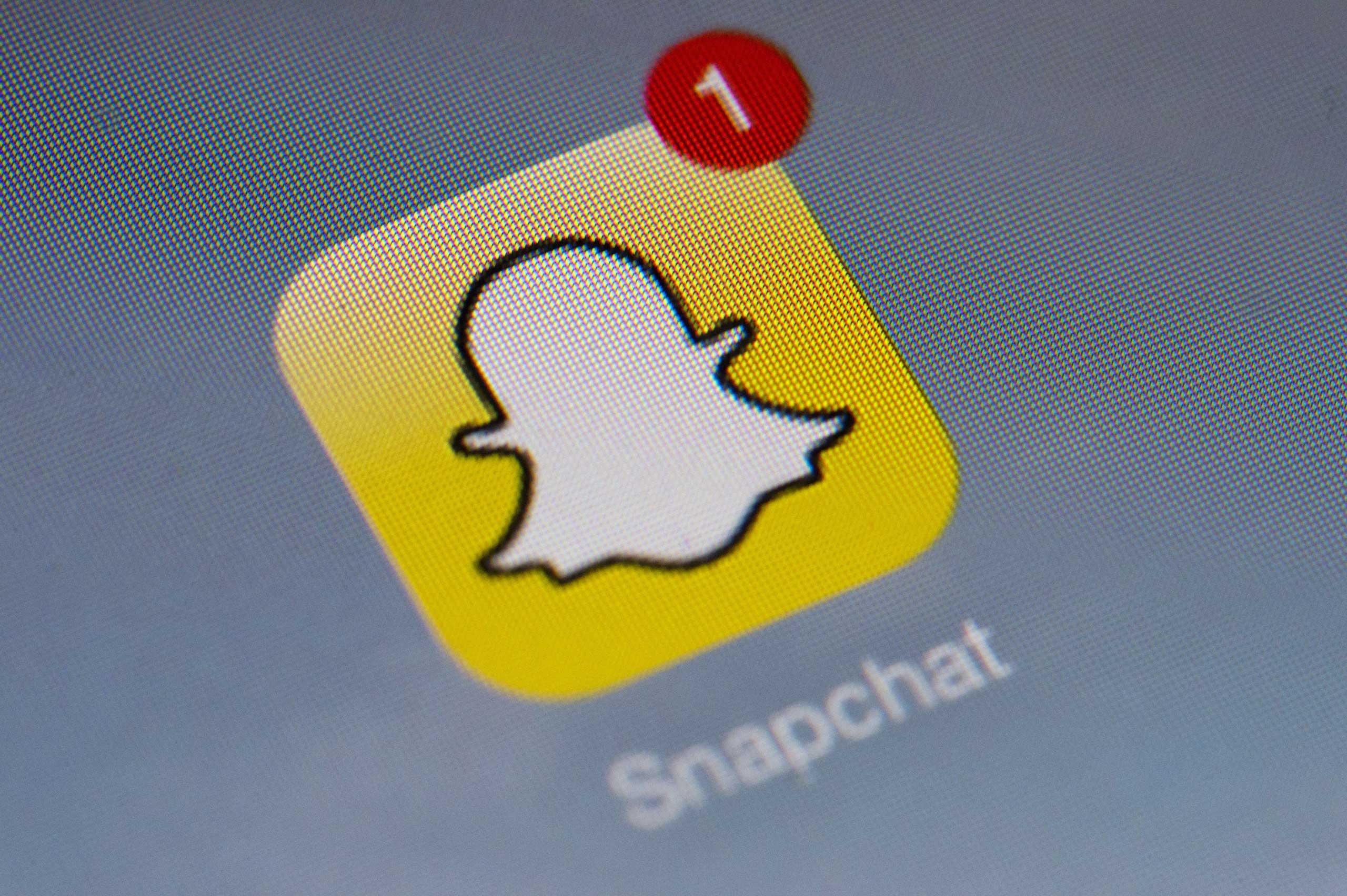 The logo of mobile app  Snapchat,  Jan. 2, 2014 in Paris.