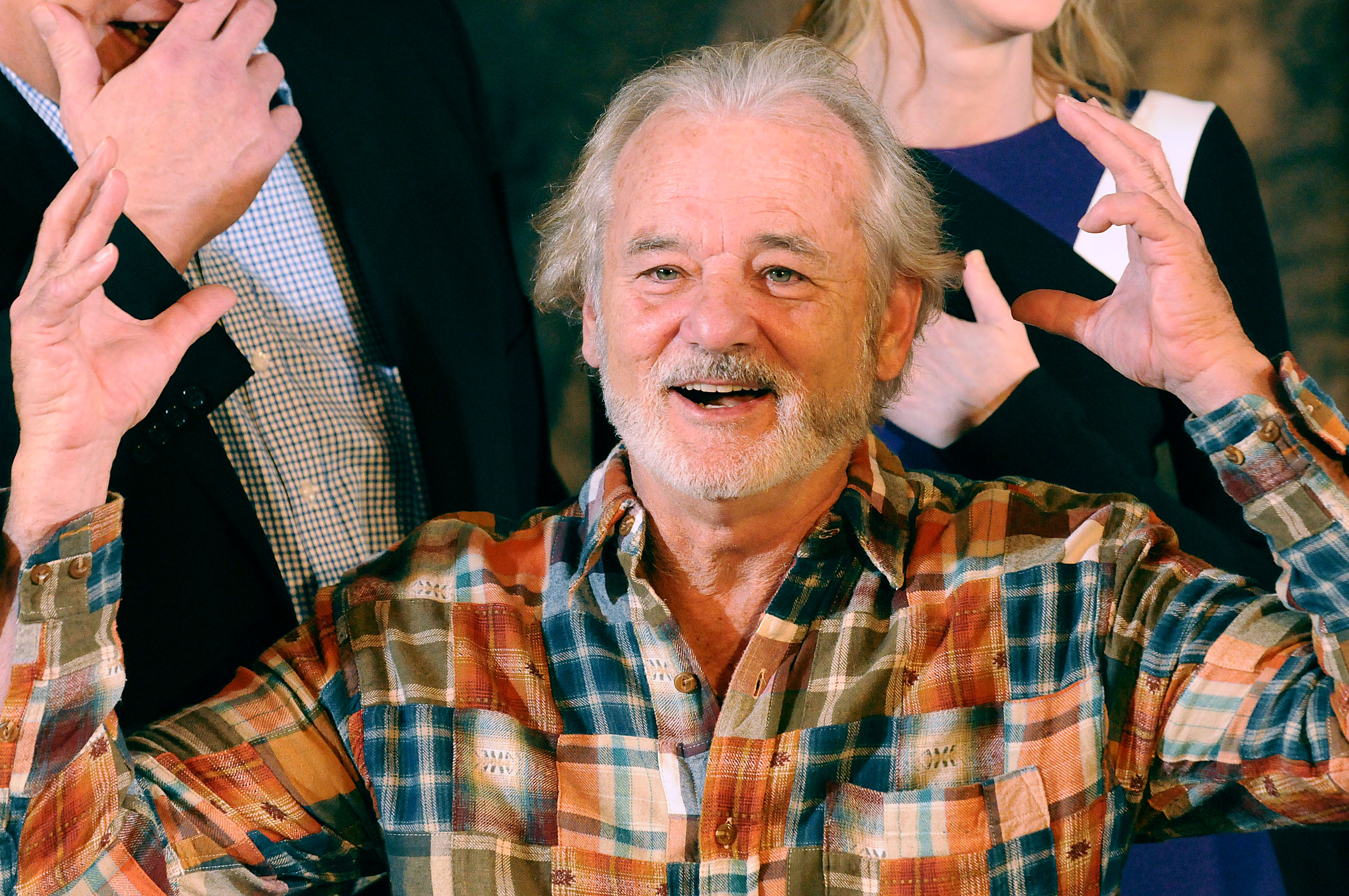 Actor Bill Murray attends a photo call for  The Monuments Men