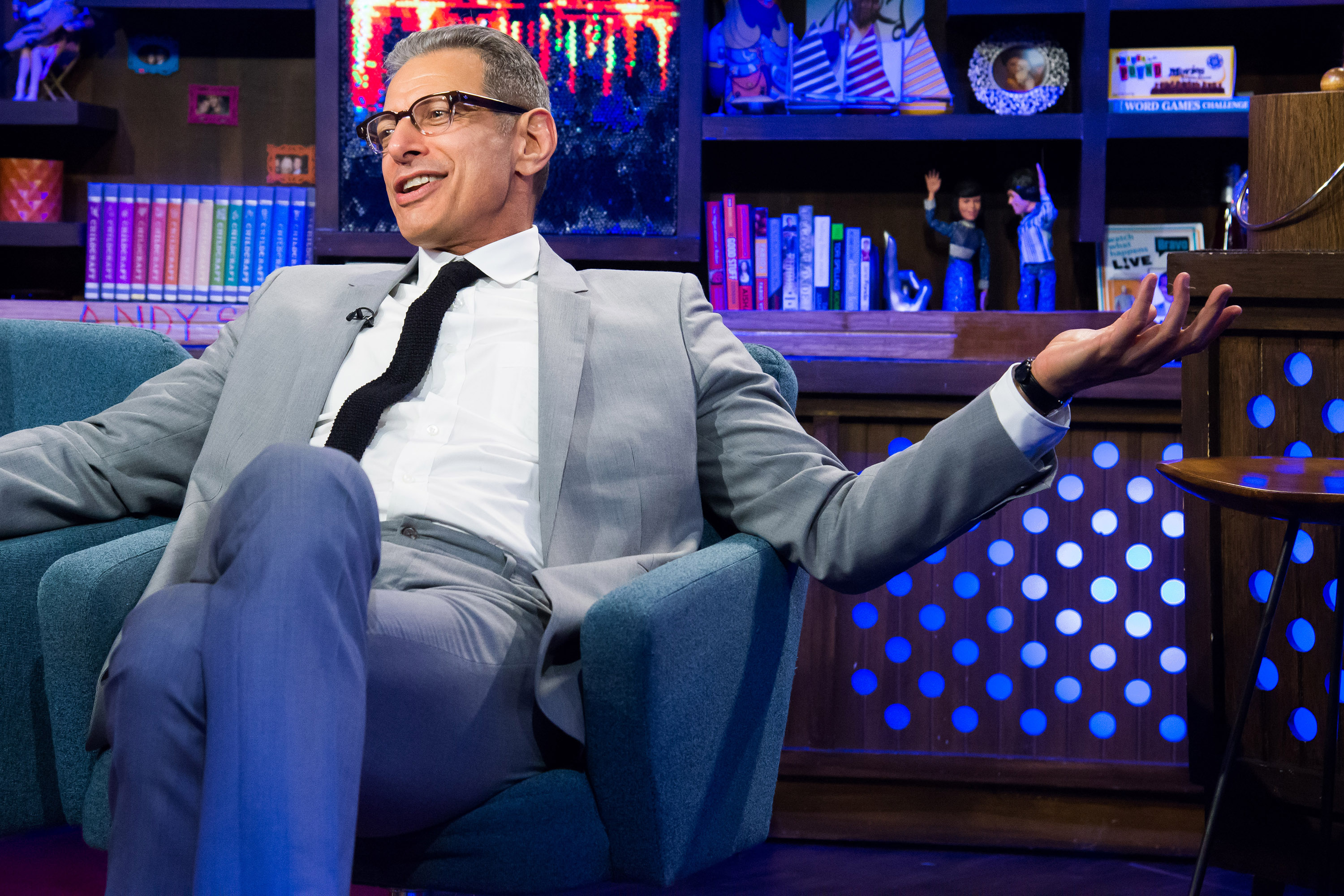 Pictured: Jeff Goldblum in his natural element.