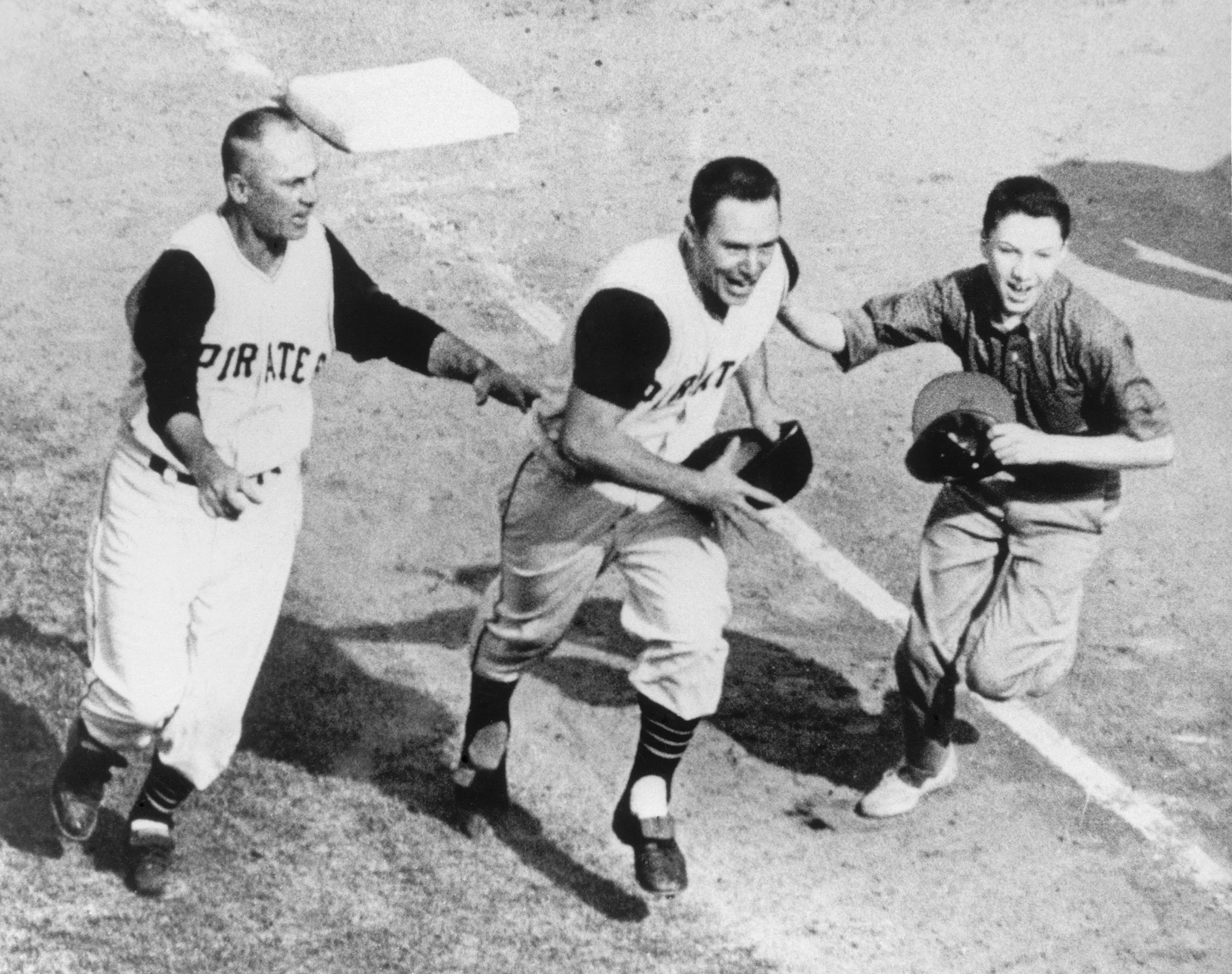 Oct. 13, 1960: Bill Mazeroski of the Pittsburgh Pirates                                   delivers the only Game 7 walk-off home run in the history of the World Series against the Yankees to win the World Series.