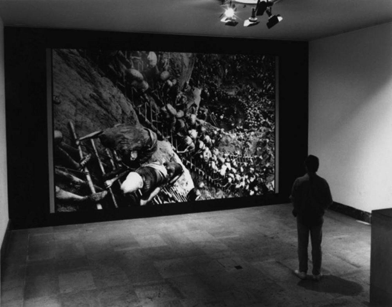 The exhibition Sebastião Salgado: La main de l'homme, 5 ans de reportages sur l'homme au travail, at the Centre National de la Photographie, Paris, 30 April–19 June, 1993.