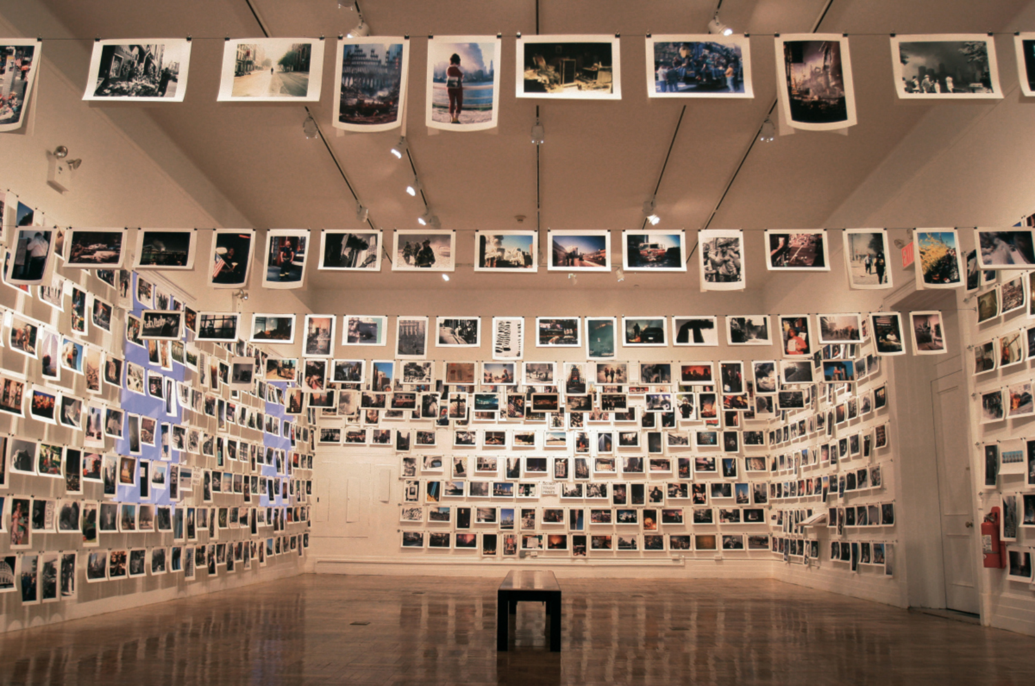 The exhibition here is new york, Prince Street, New York, 2001.