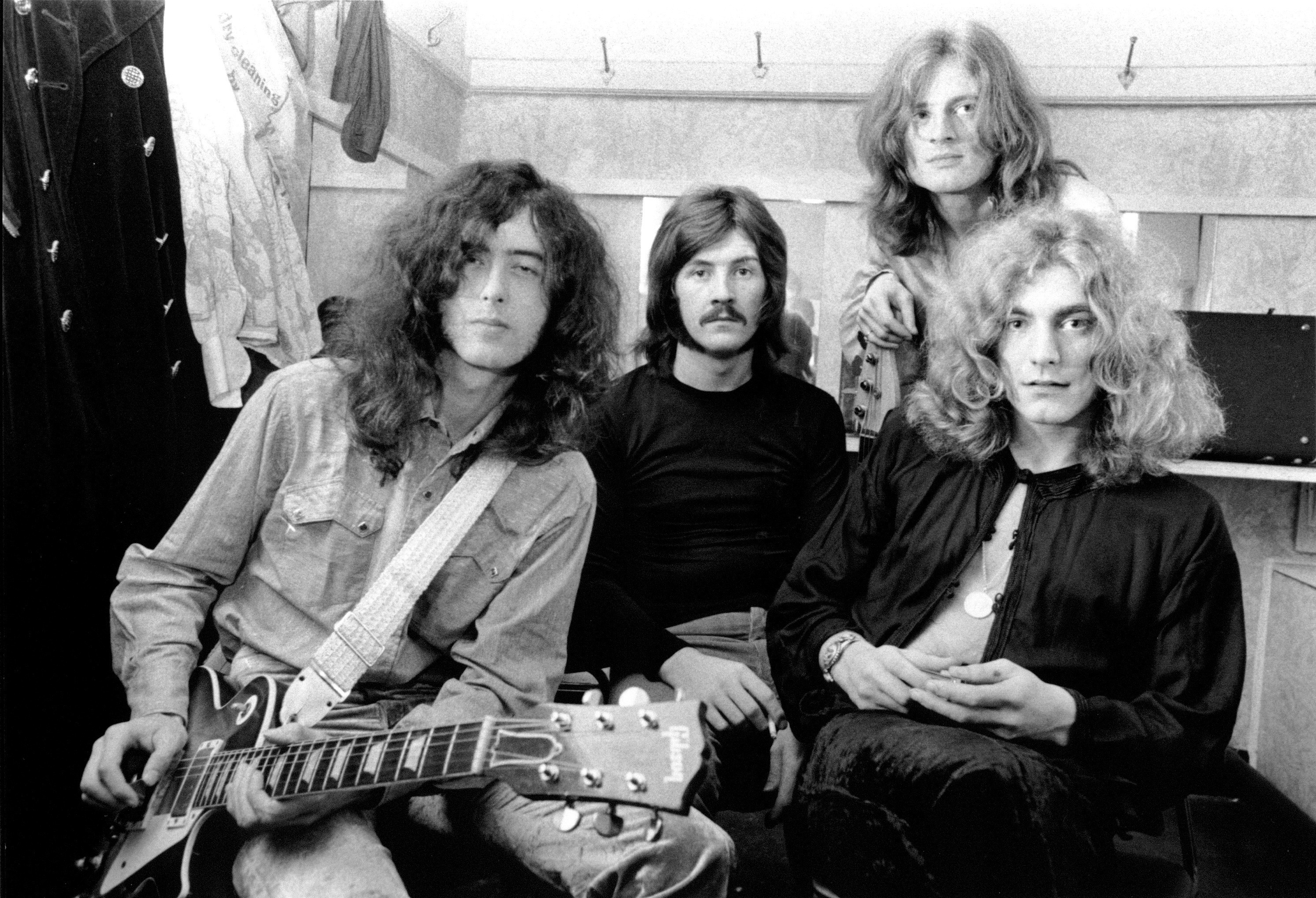 Led Zeppelin (Jimmy Page, John Bonham, John Paul Jones, Robert Plant) in 1969.
