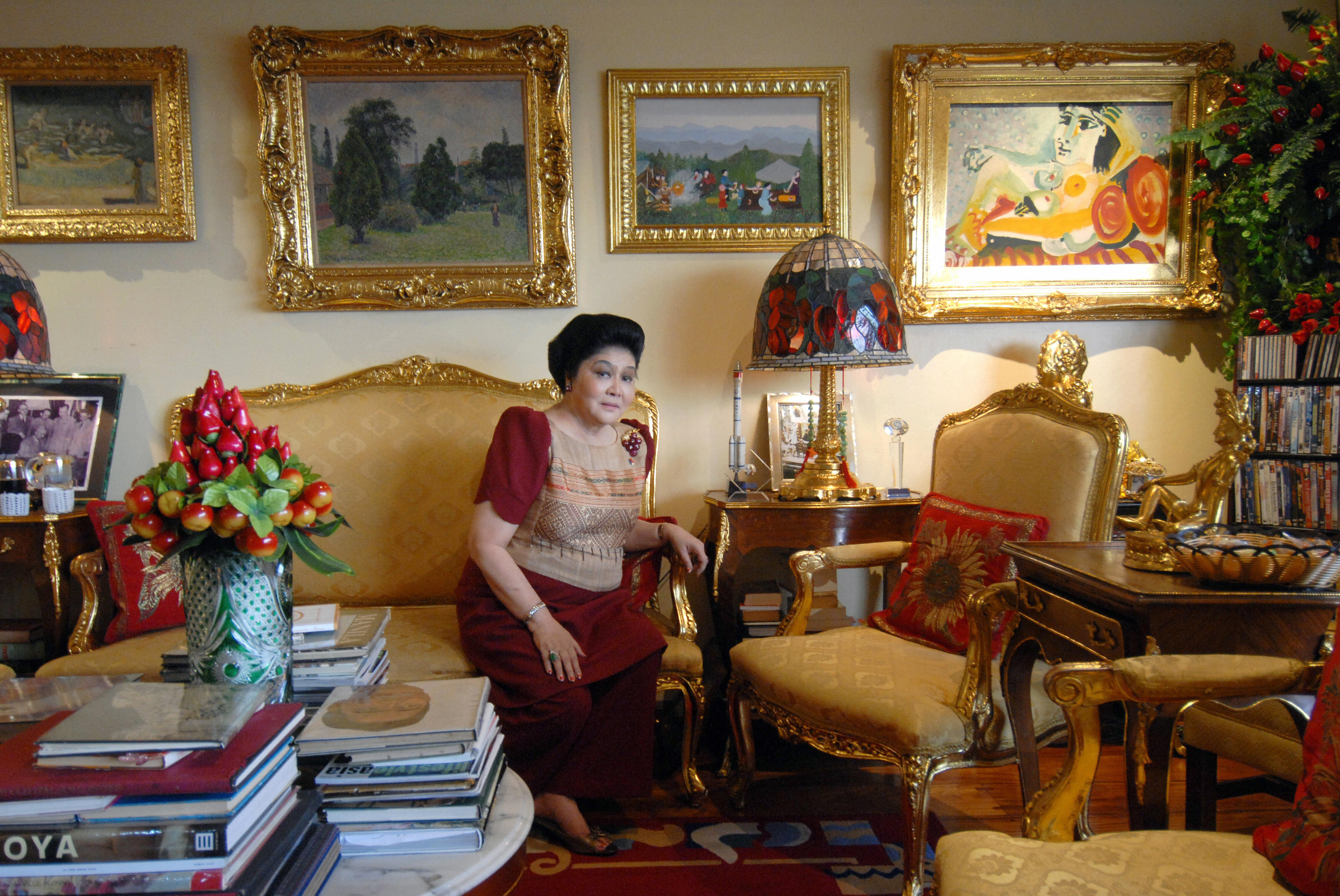 Former Philippine first lady Imelda Marcos is seen in her apartment in Manila on June 27, 2007.