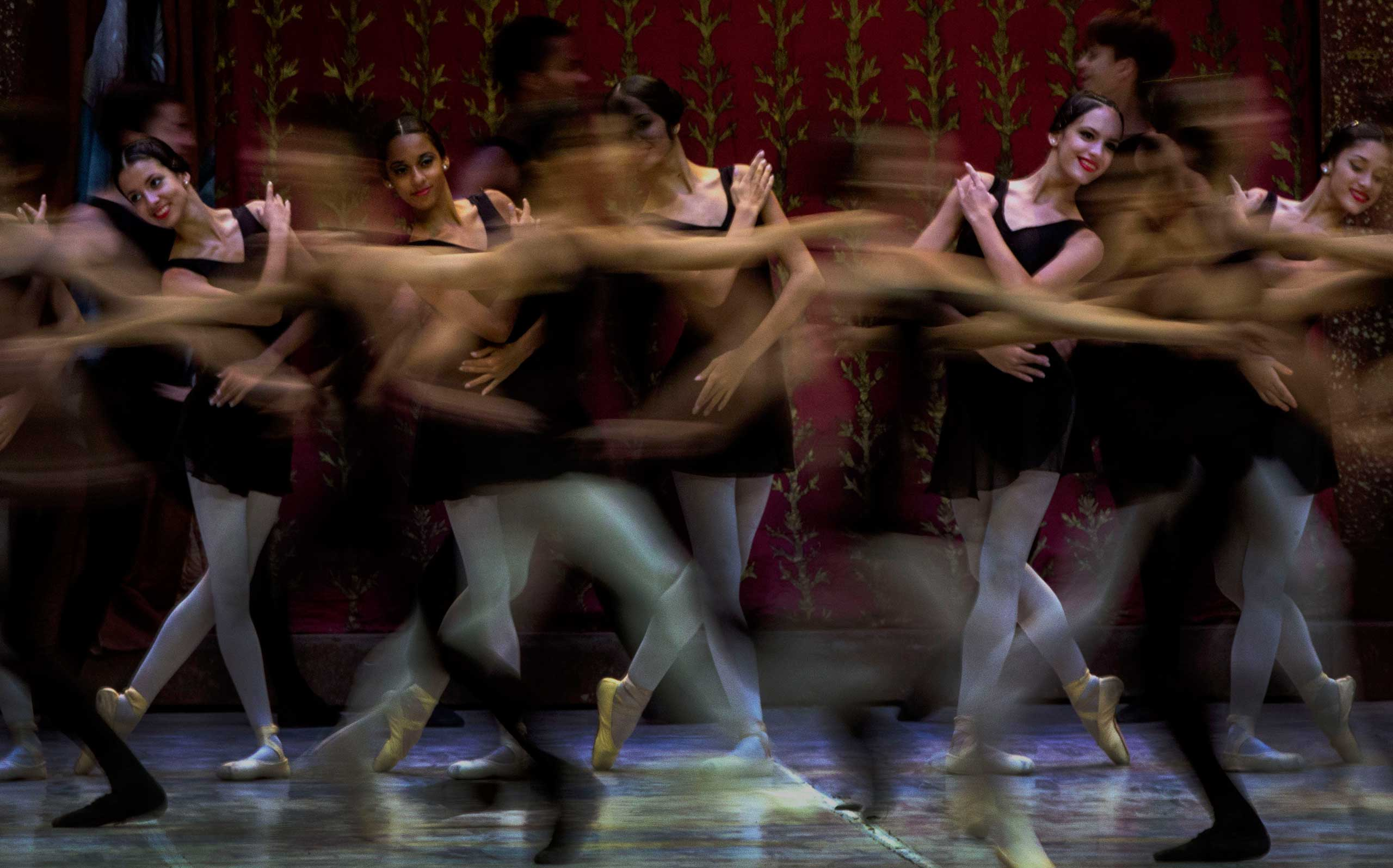 Oct. 28, 2014. Dancers perform during the opening of the 24th International Ballet Festival at the Karl Marx Theater in Havana.