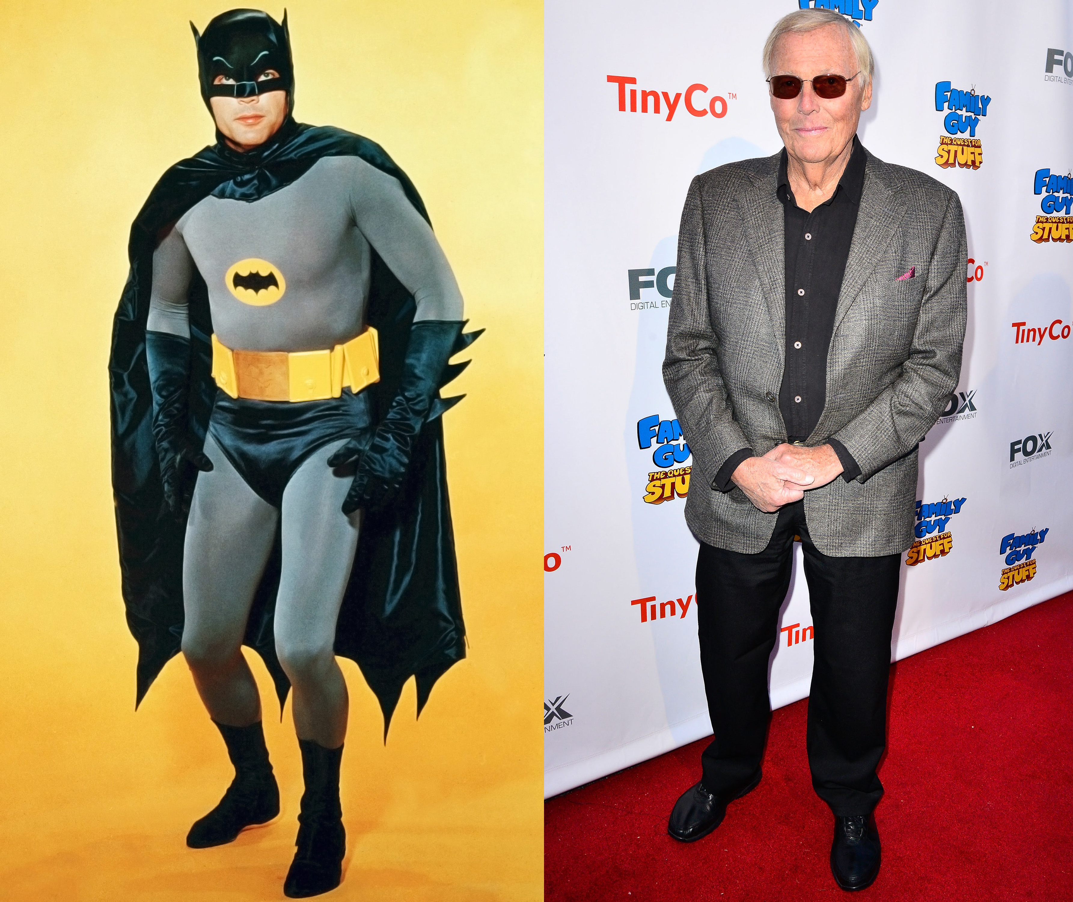 Have a Batman parody? Adam West, the original Batman known for his  pow  and  zing  sound effects, is game. He voices Mayor Adam West on Family Guy, has played himself in Funny or Die sketches and was even a guest on 30 Rock.