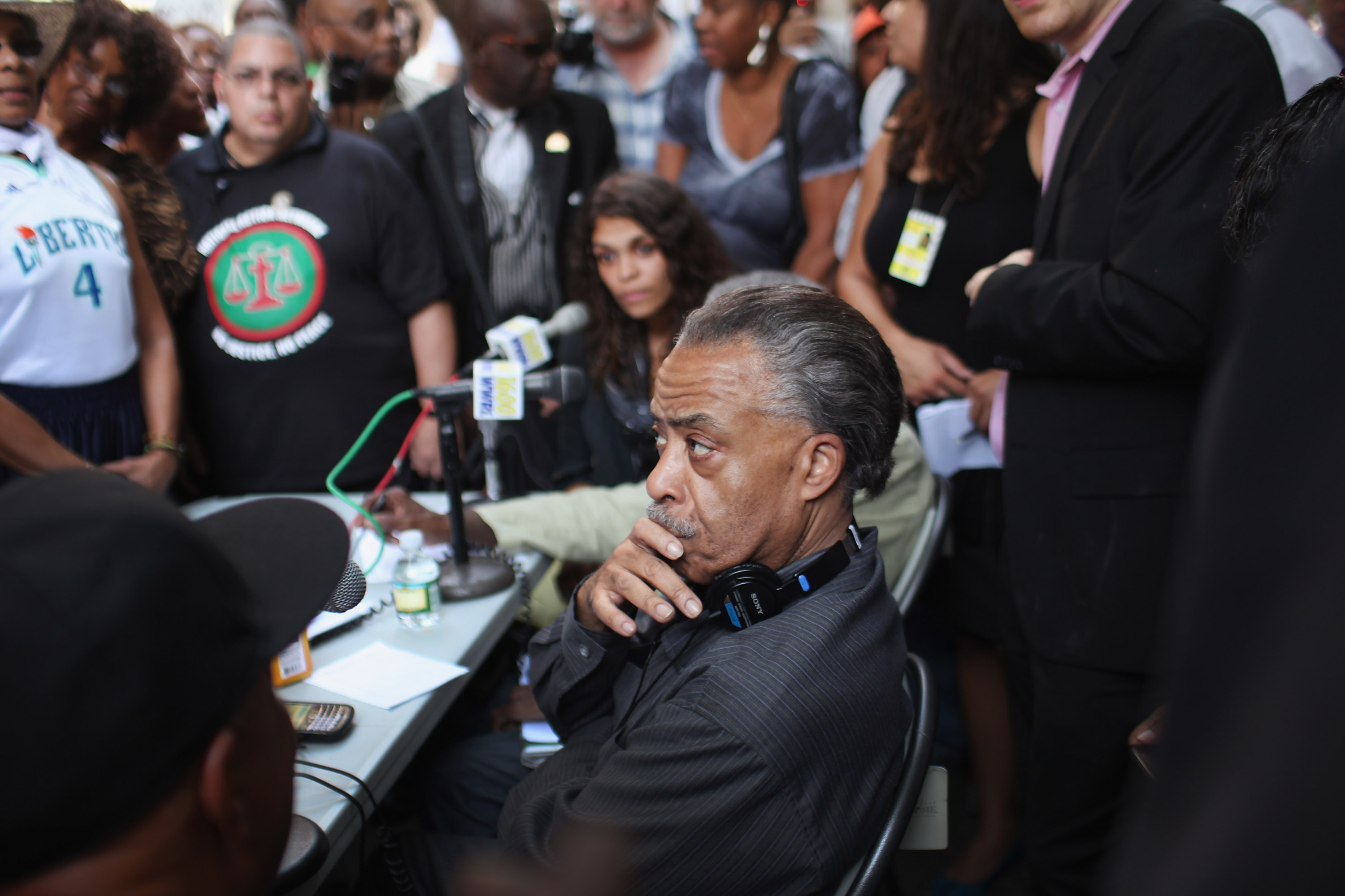 The Reverend Al Sharpton joins Occupy Wall Street protesters at Zuccotti Park in New York City on Oct. 10, 2011.