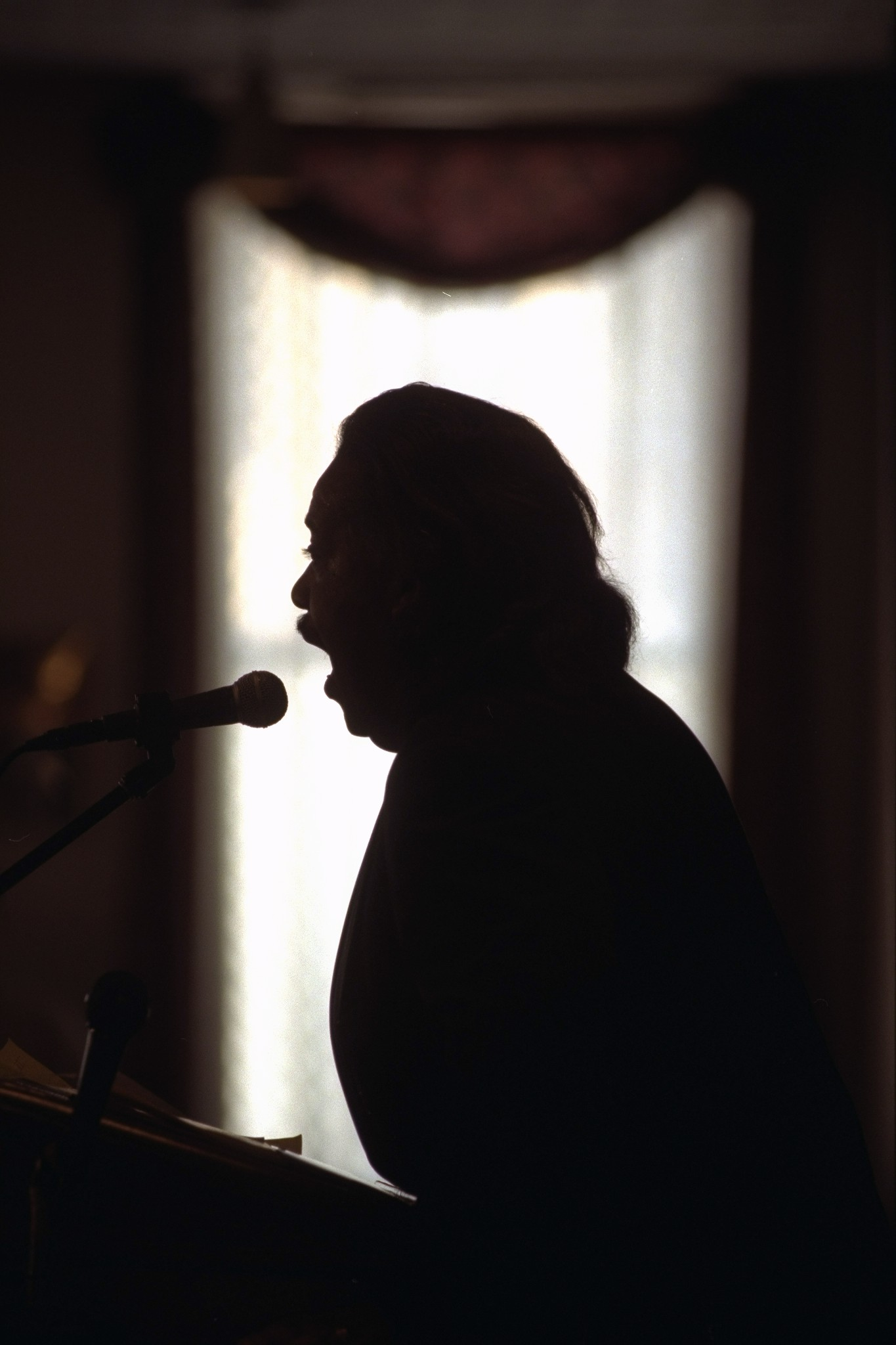 The Rev. Al Sharpton announces his candidacy for mayor in Harlem, New York City, Jan. 20, 1997.