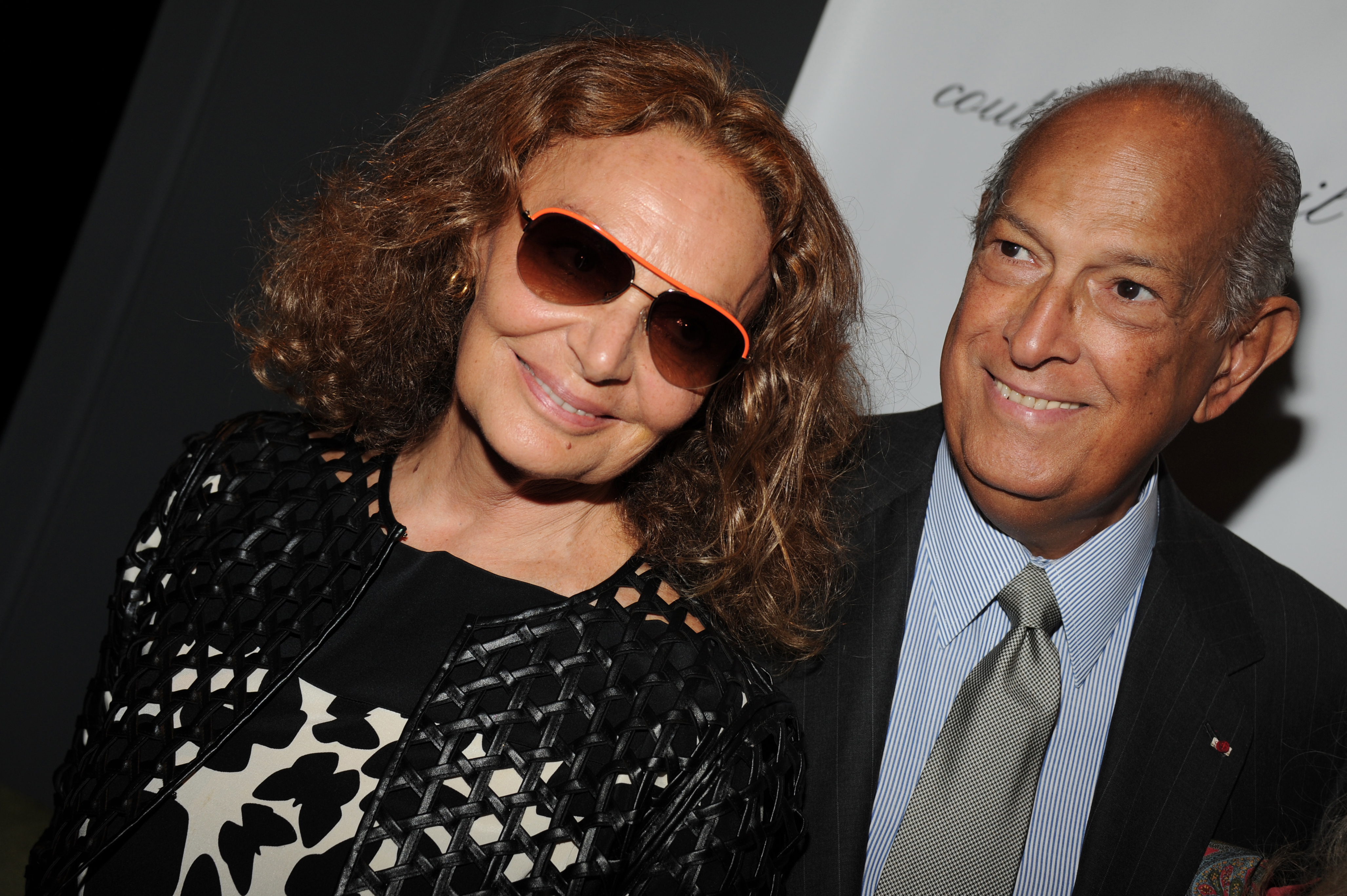 From Left: Diane von Furstenberg and Oscar de la Renta attend a function at Lincoln Center in new York City on Sept. 5, 2012.