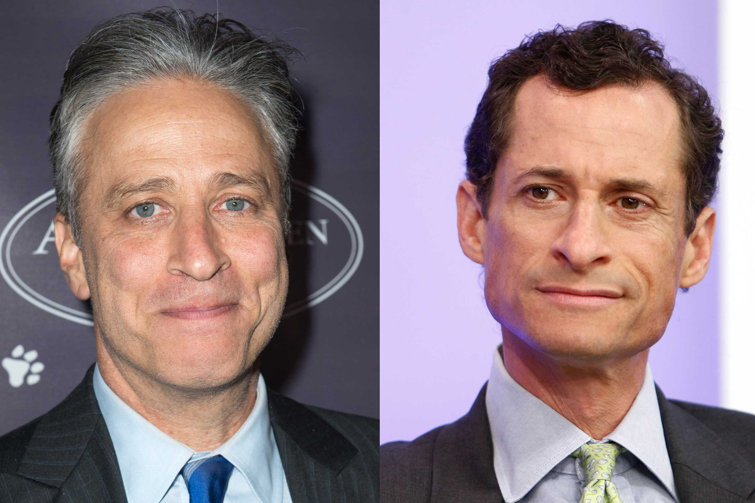 Well, at least they used to be friends — Jon Stewart and Anthony Weiner lived together after college, but the politician has blamed the satirist for making politics more cynical.