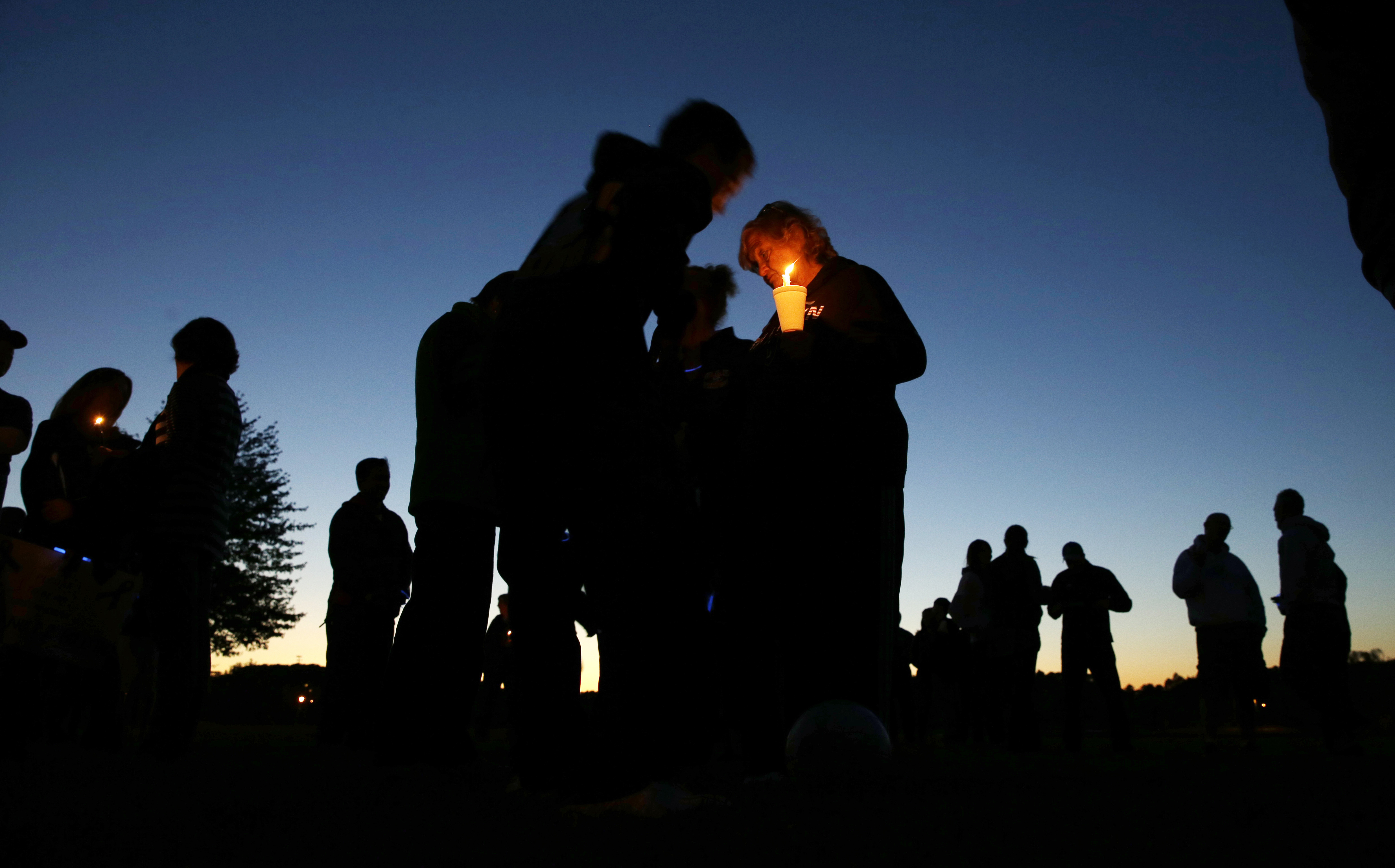 Residents of Sayreville gather for an anti-bullying rally Oct. 12, 2014, in Sayreville, N.J.