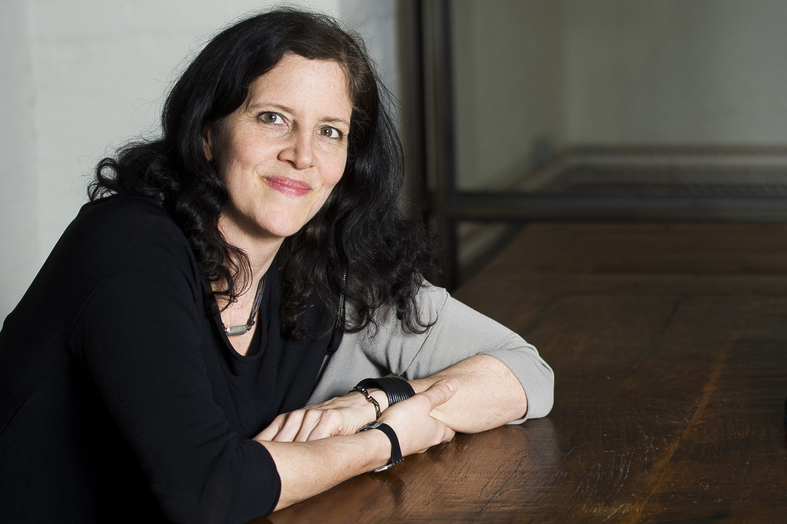 This April 16, 2014 photo shows Pulitzer Prize and Polk Award winner Laura Poitras in New York to promote her documentary film  1971,  premiering Friday at the Tribeca Film Festival. (Photo by Charles Sykes/Invision/AP)