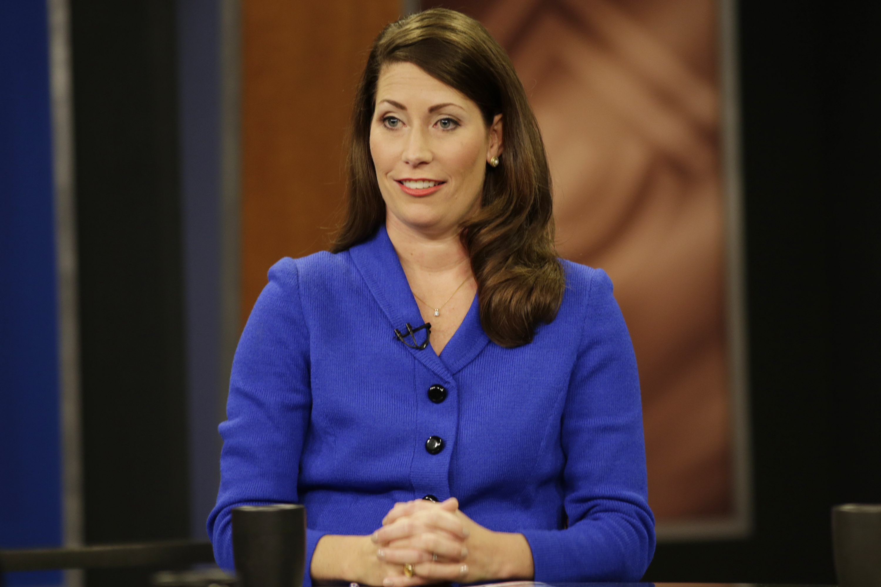 Kentucky Secretary of State Alison Lundergan Grimes in Lexington, Ky., on Monday, Oct. 13, 2014.