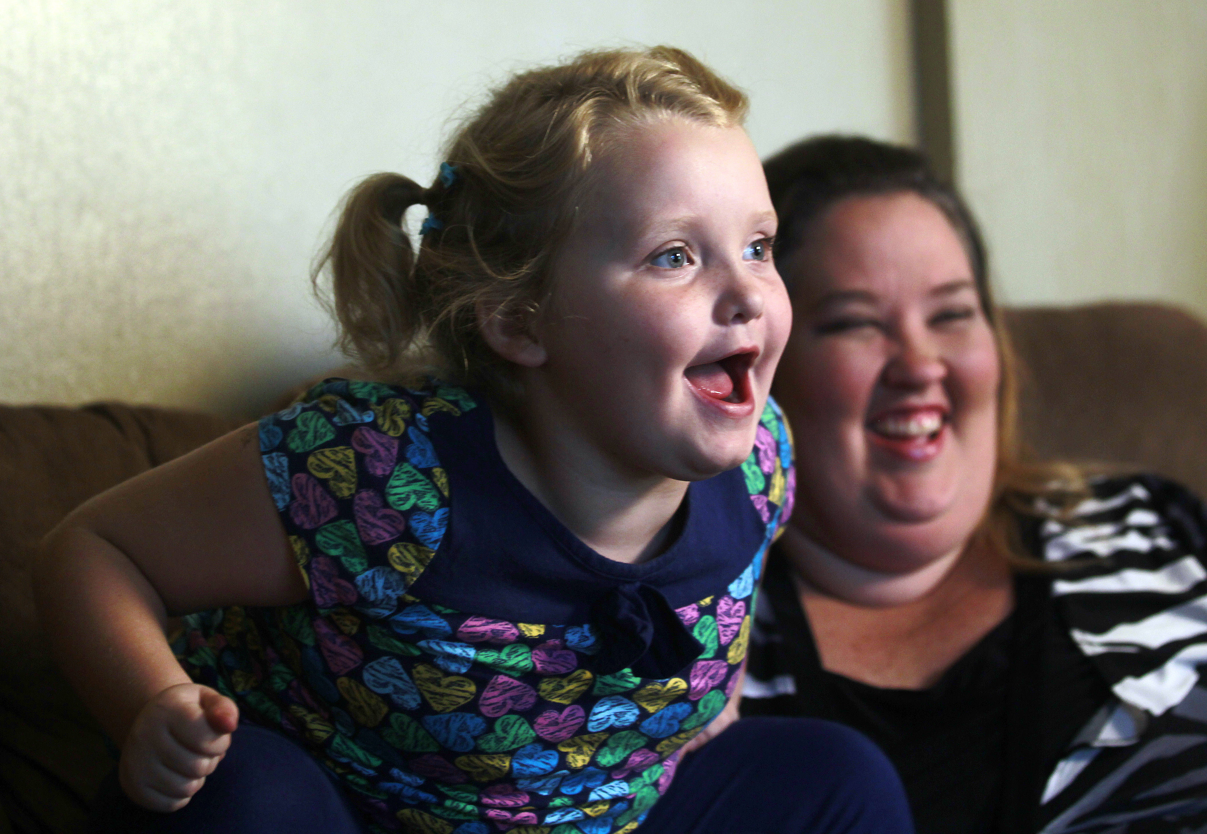 Alana  Honey Boo Boo  Thompson speaks during an interview as her mother, June Shannon, looks on in her home in McIntyre, Ga. on Oct. 24, 2014.