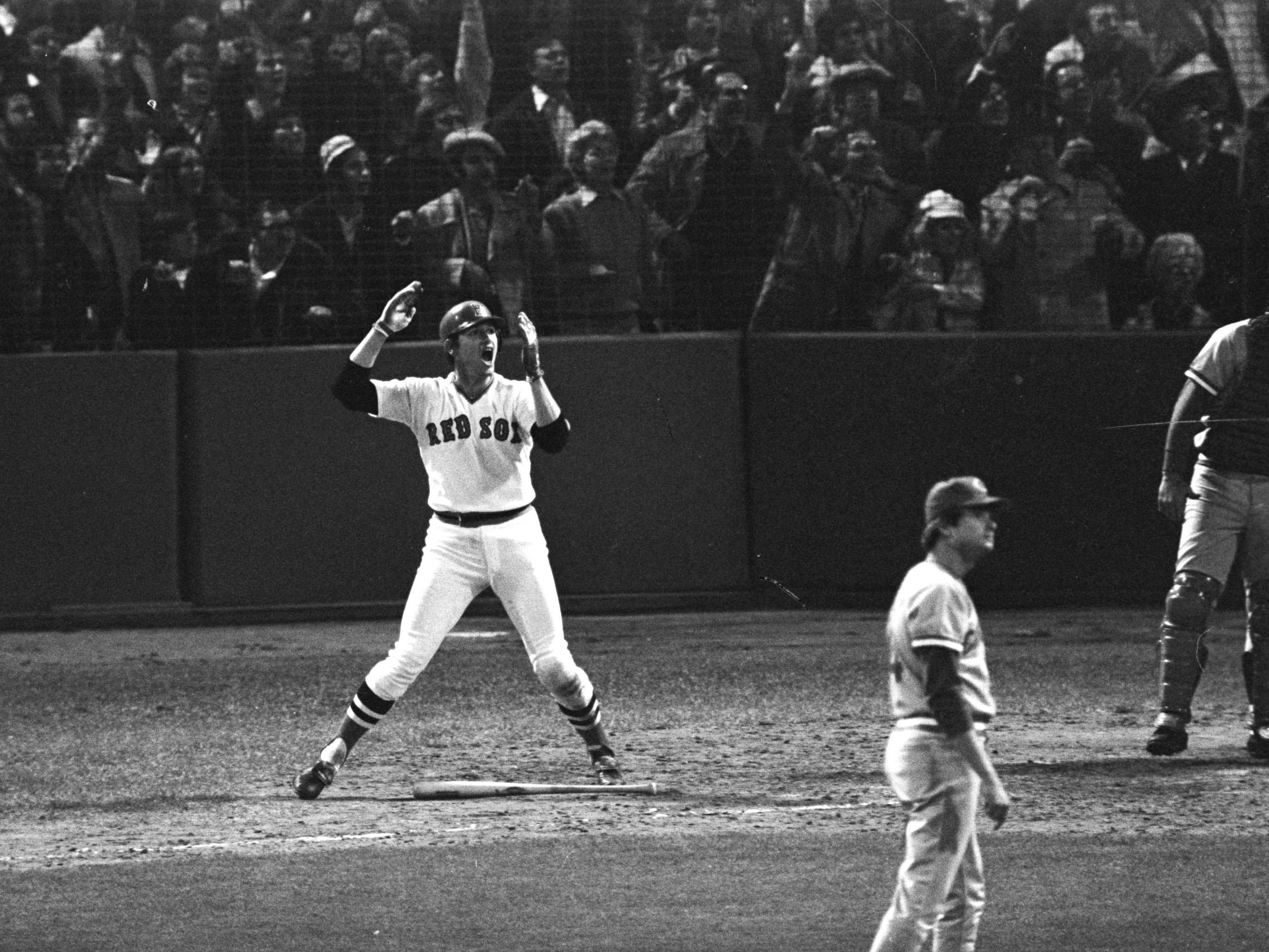 Oct. 22, 1975: Game 6, bottom of the 12th, Carlton Fisk at bat. He hits a walk-off home run that pushes for a game 7 against the Cincinnati Reds.  Fisk's home run extended the Red Sox dream of breaking the curse of the Bambino.