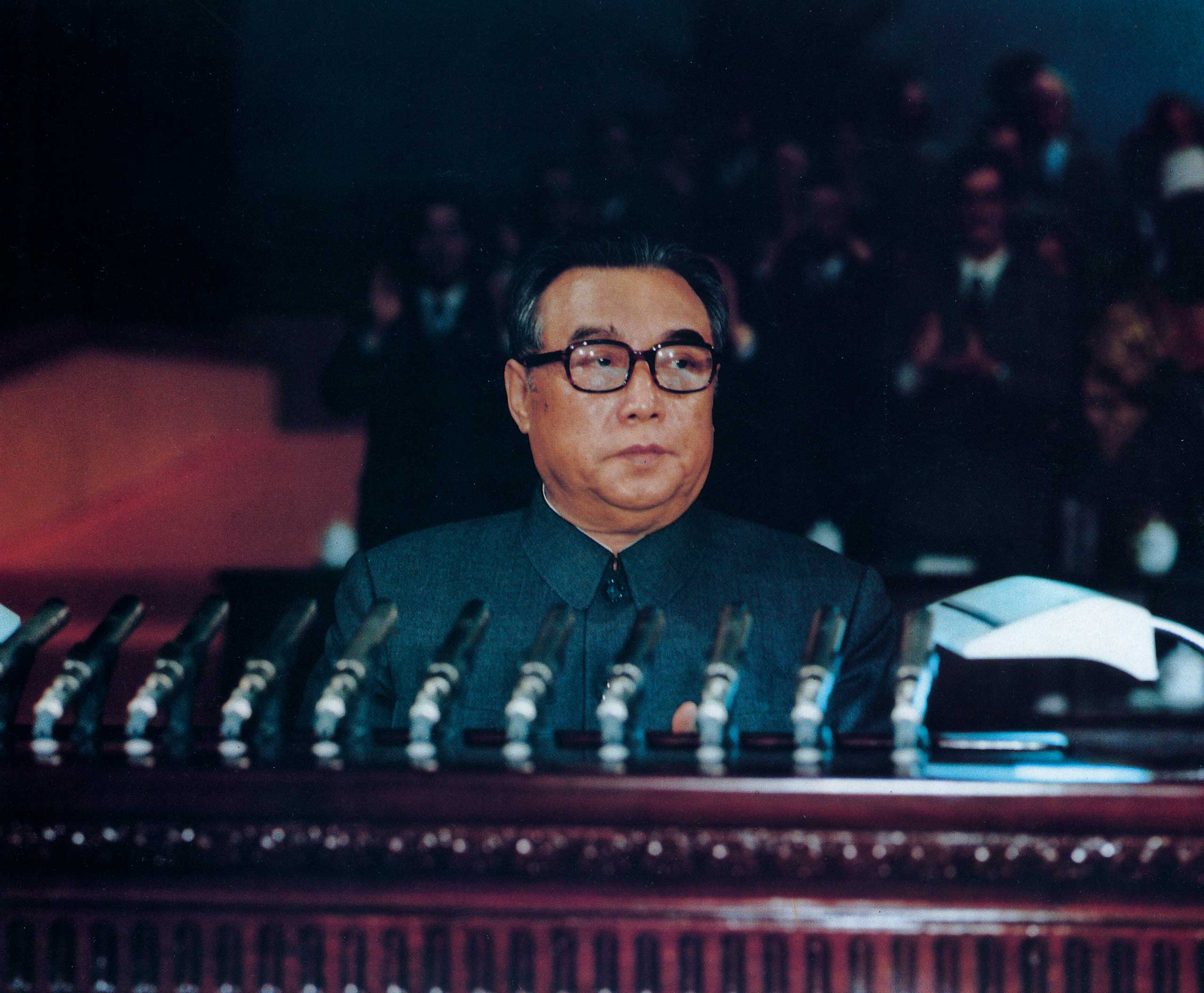 North Korea's founder Kim Il Sung in Pyongyang, Oct. 10, 1980.