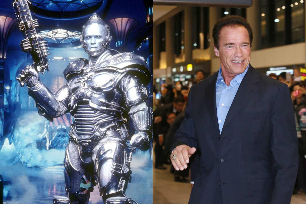 Arnold Schwarzenegger had already established himself as the Terminator before he ever played villain Mr. Freeze in 1997's Batman & Robin. Since he's both served as governor of California and starred in the Expendables films.