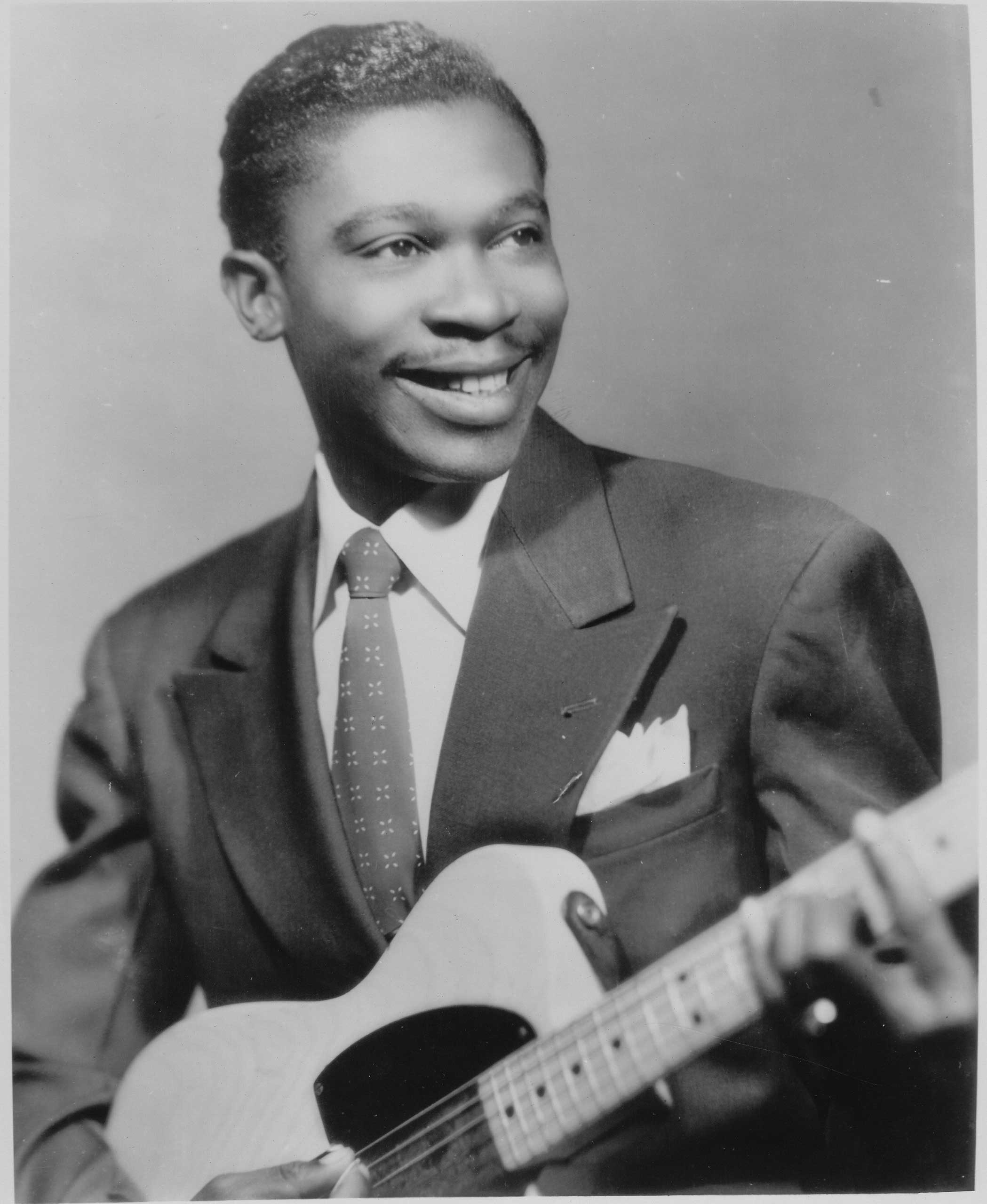 B.B. King poses for a portrait in 1950.