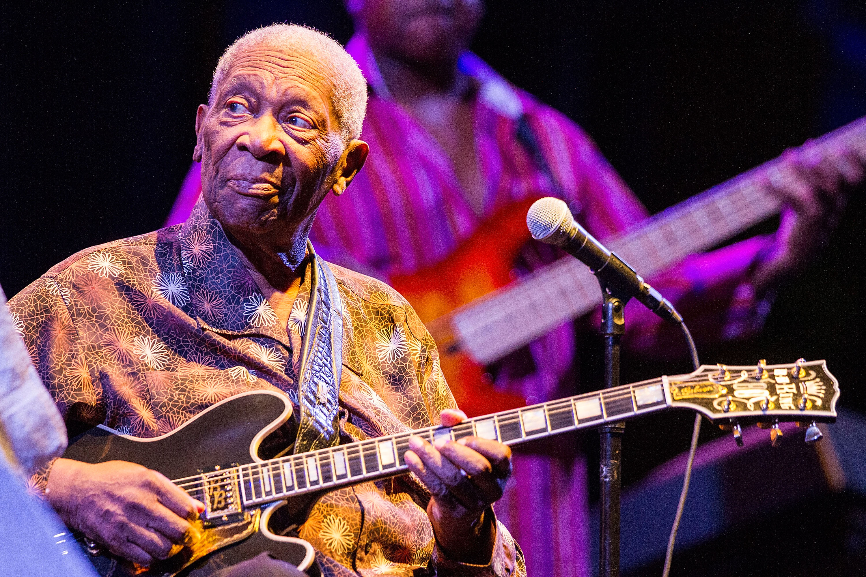 Blues legend B.B. King performs on stage at Humphrey's Concerts By The Bay on Aug. 27, 2014 in San Diego.