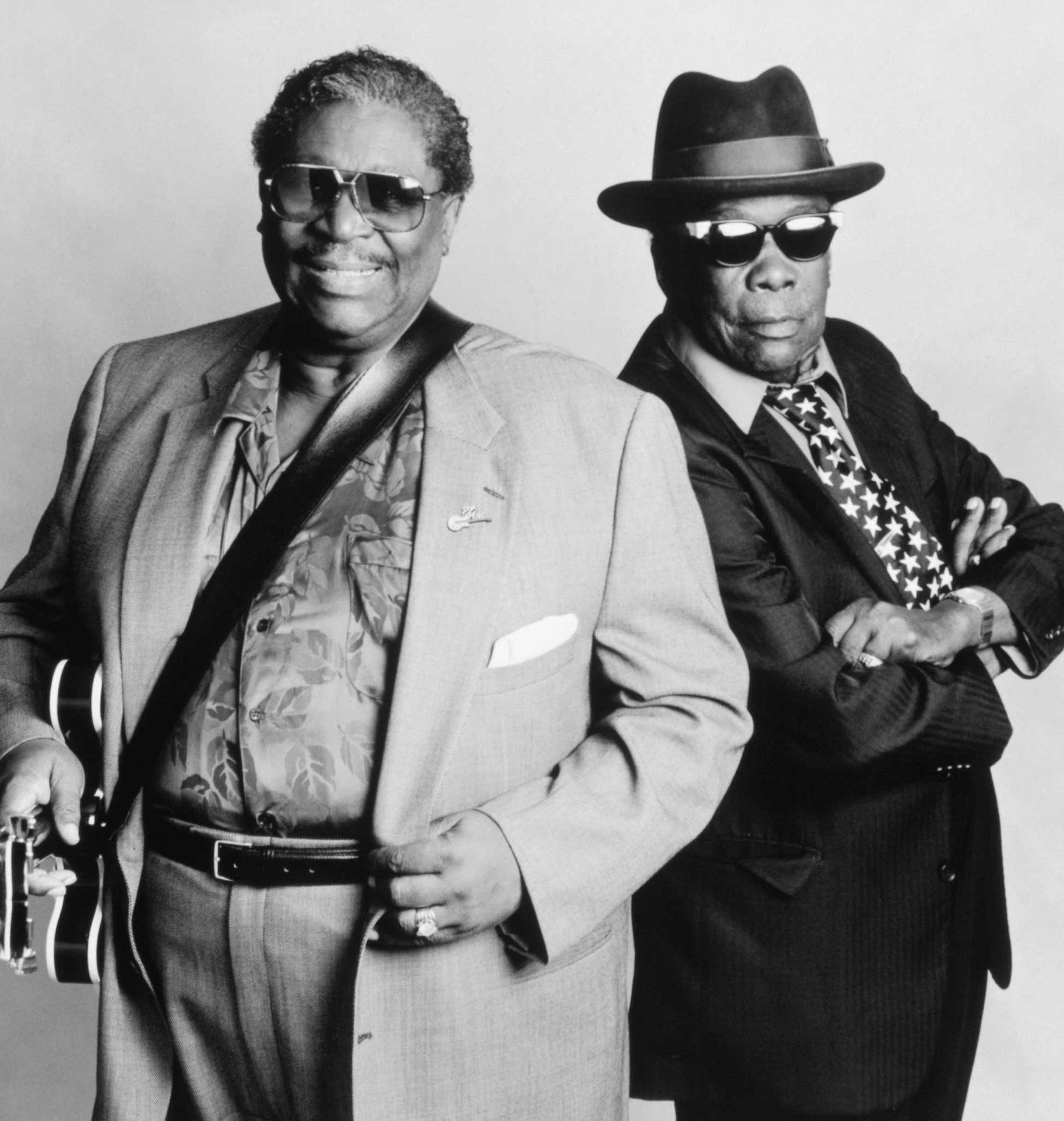 From Left: B.B. King and John Lee Hooker pose for a portrait on Jan. 1, 1997.