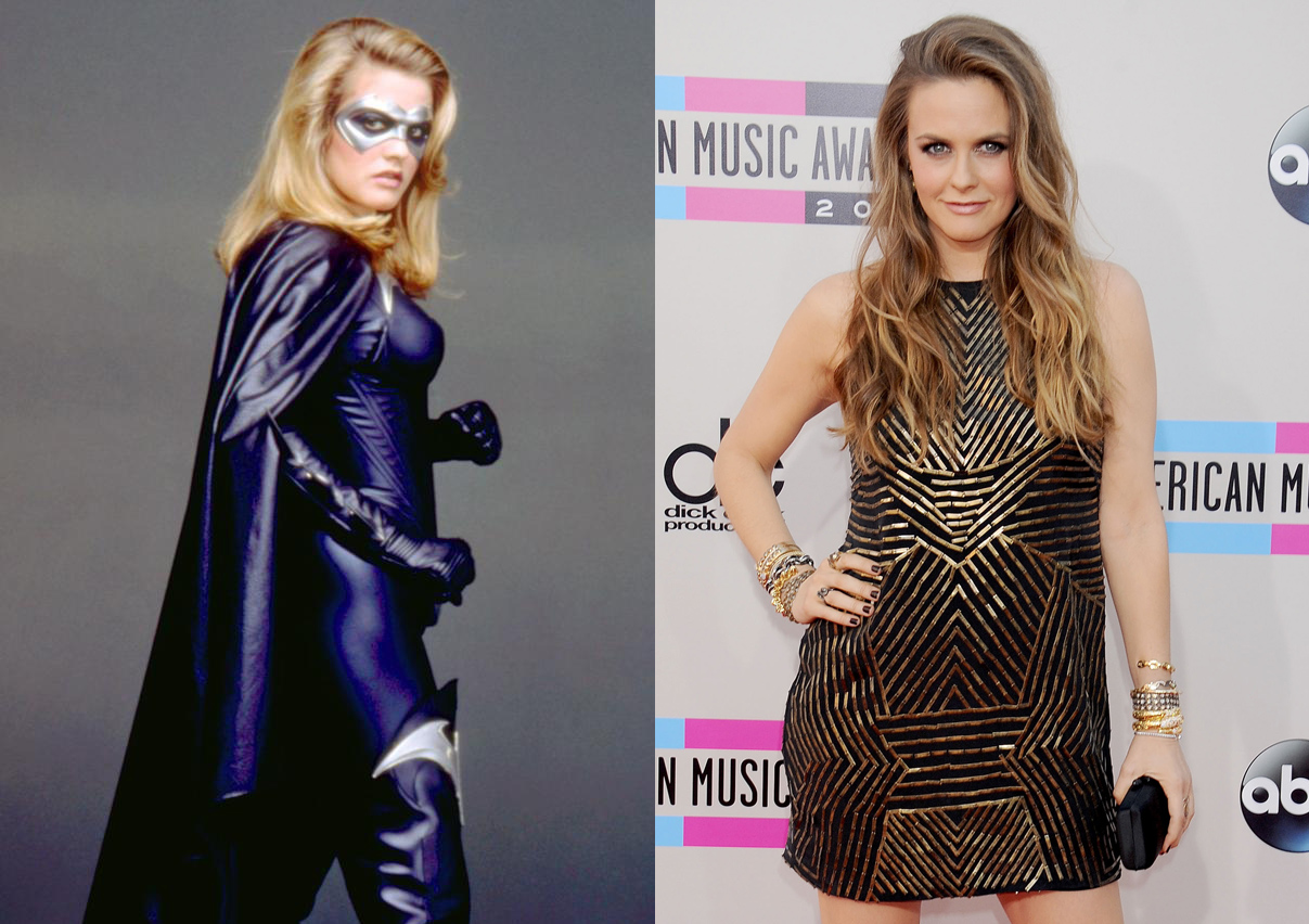 Coming off of the cult hit Clueless, Alicia Silverstone played Batgirl in 1997's Batman & Robin. The movie was declared one of the worst blockbusters ever made. Since, she's had stints on TV shows like Suburgatory.
