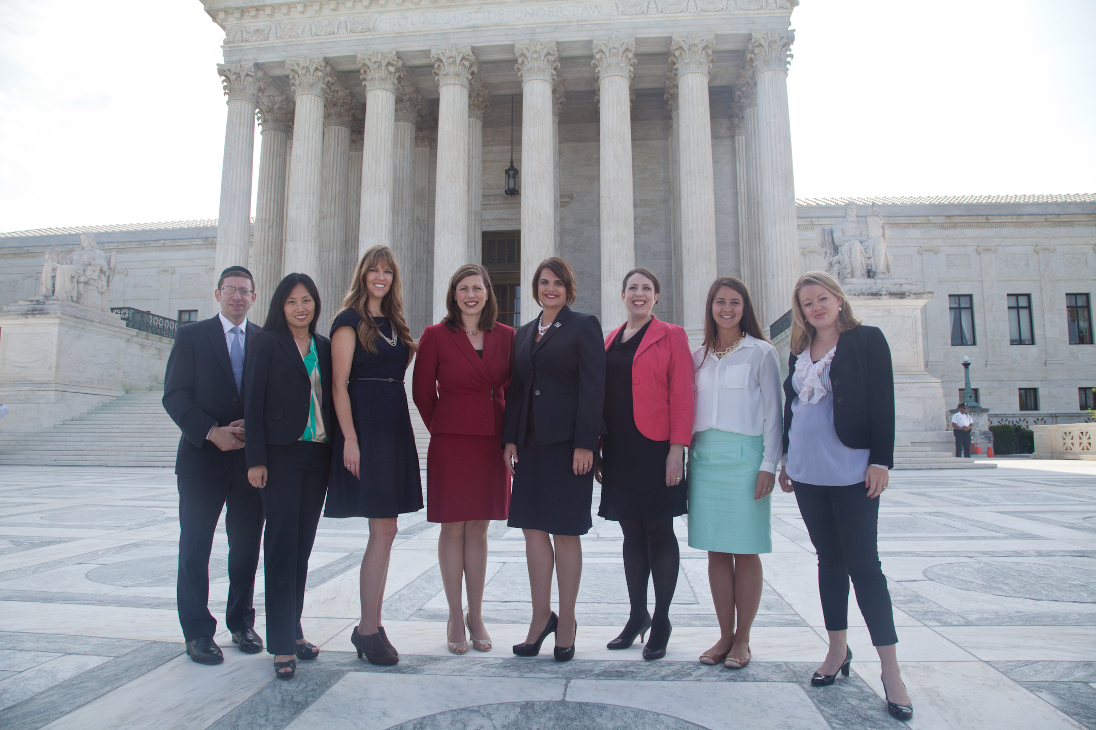 Counsel for The Becket Fund for Religious Liberty outside of the Supreme Court in Washington.