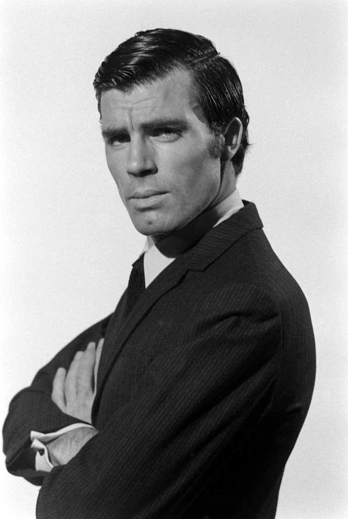 Robert Campbell during James Bond auditions, 1967.