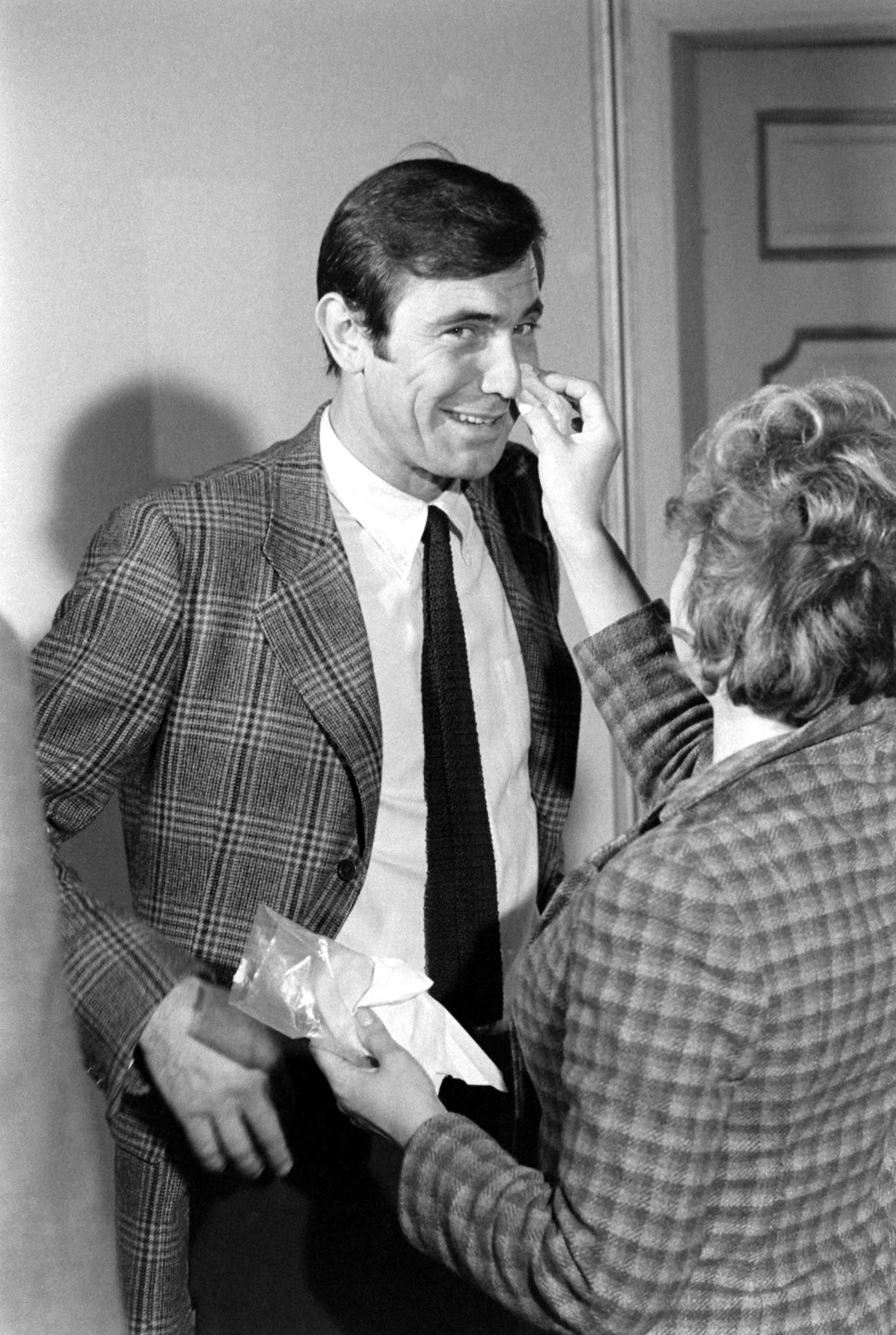 George Lazenby during auditions for the role of James Bond, 1967.