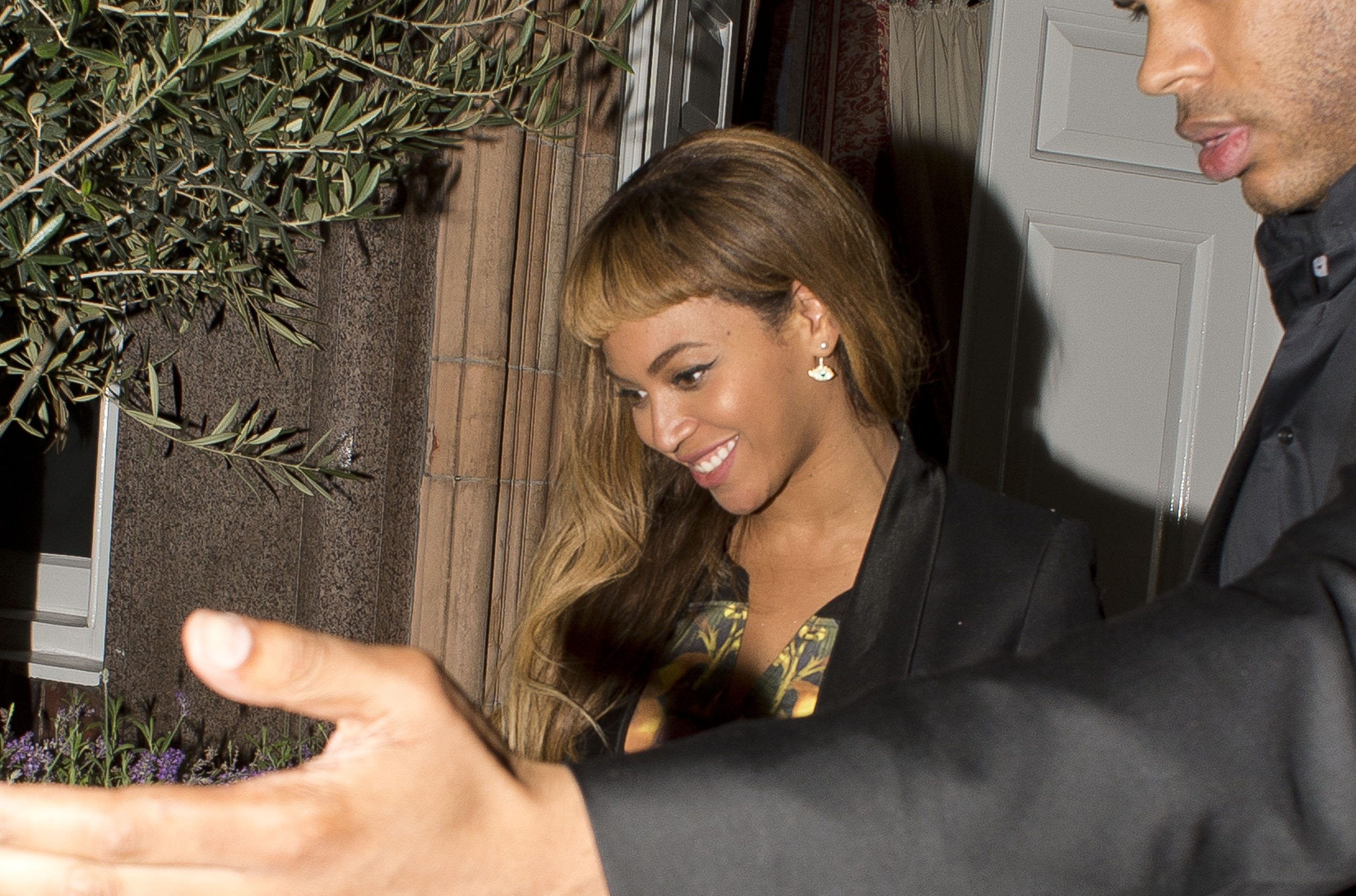 Beyonce is seen leaving Harry's Bar, Mayfair on October 17, 2014 in London, England.