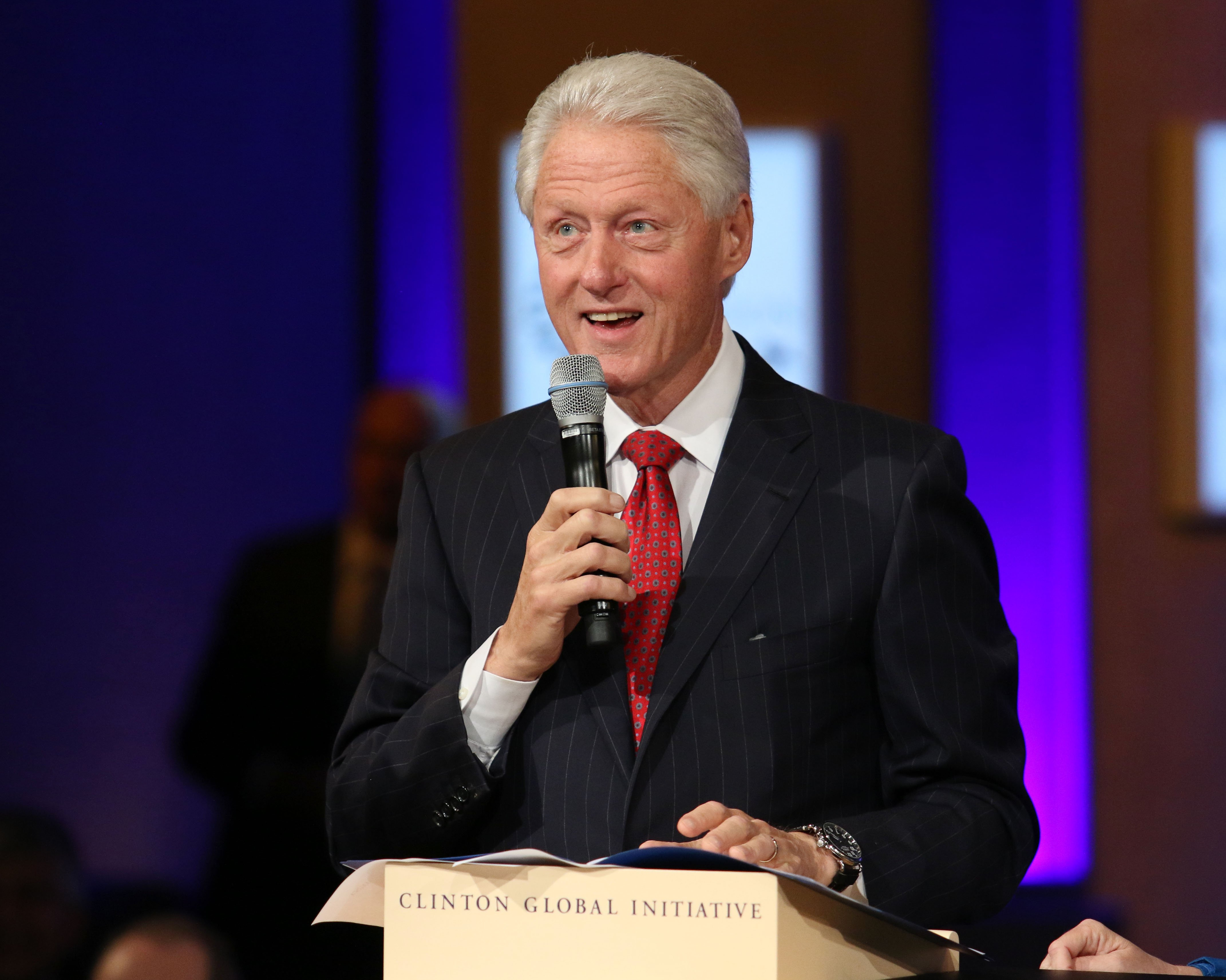 Bill Clinton speaks during the closing plenary session of the 2014 Clinton Global Initiative in New York City on Sept. 24, 2014.