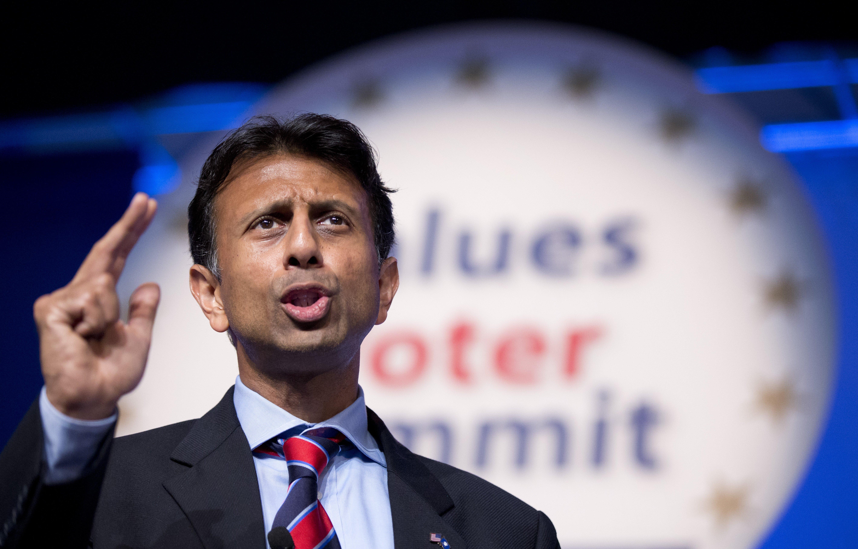 Louisiana Gov. Bobby Jindal speaks at the 2014 Values Voter Summit in Washington on Sept. 26, 2014.