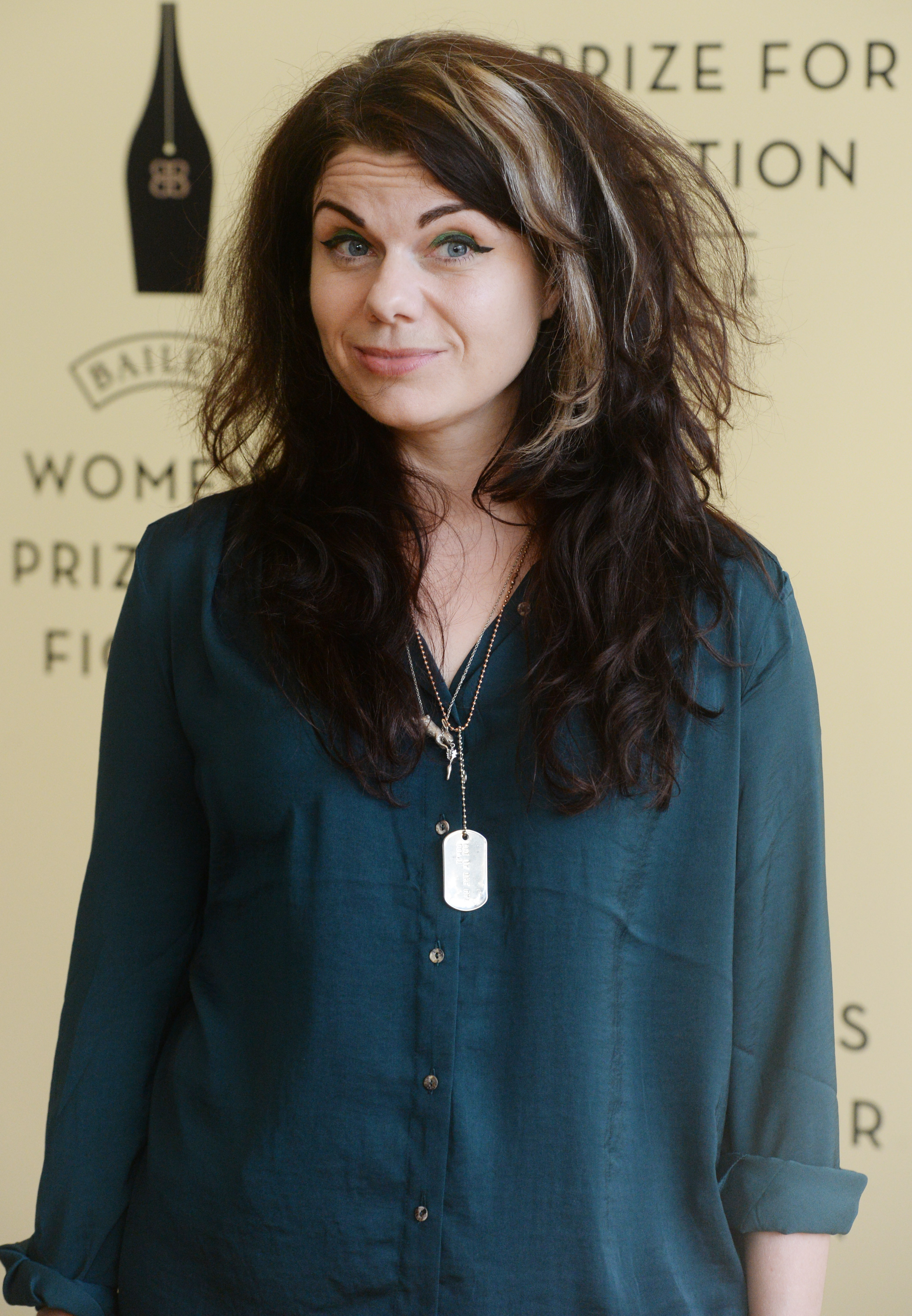 Caitlin Moran at the  Baileys Women's Prize For Fiction  at Royal Festival Hall in London on June 4, 2014.