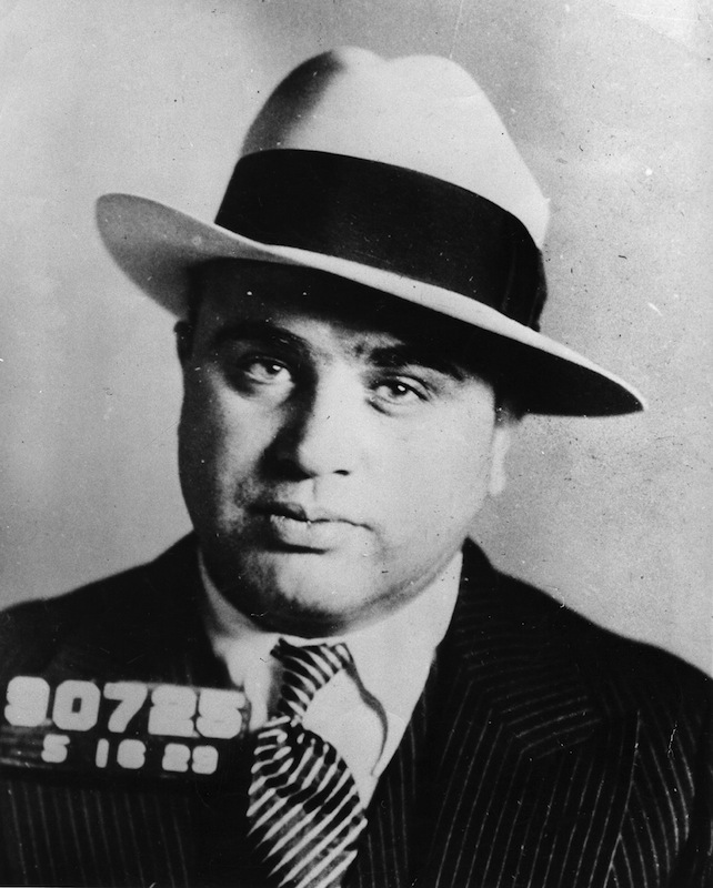 A November 1930 mugshot of Chicago gangster Al Capone