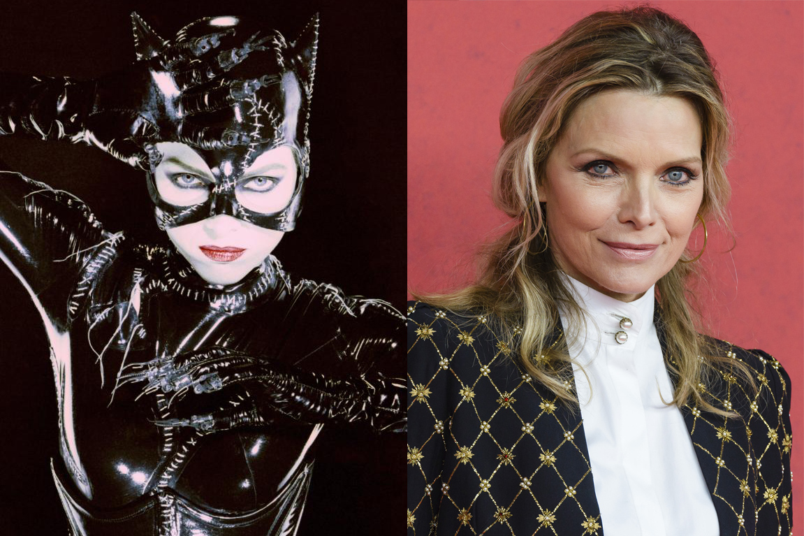 Arguably Michelle Pfeiffer's most memorable role was playing Catwoman in 1992's Batman Returns.  The actress never got trapped in the latex, appearing in What Lies Beneath, Dark Shadows and dozens of other films since.
