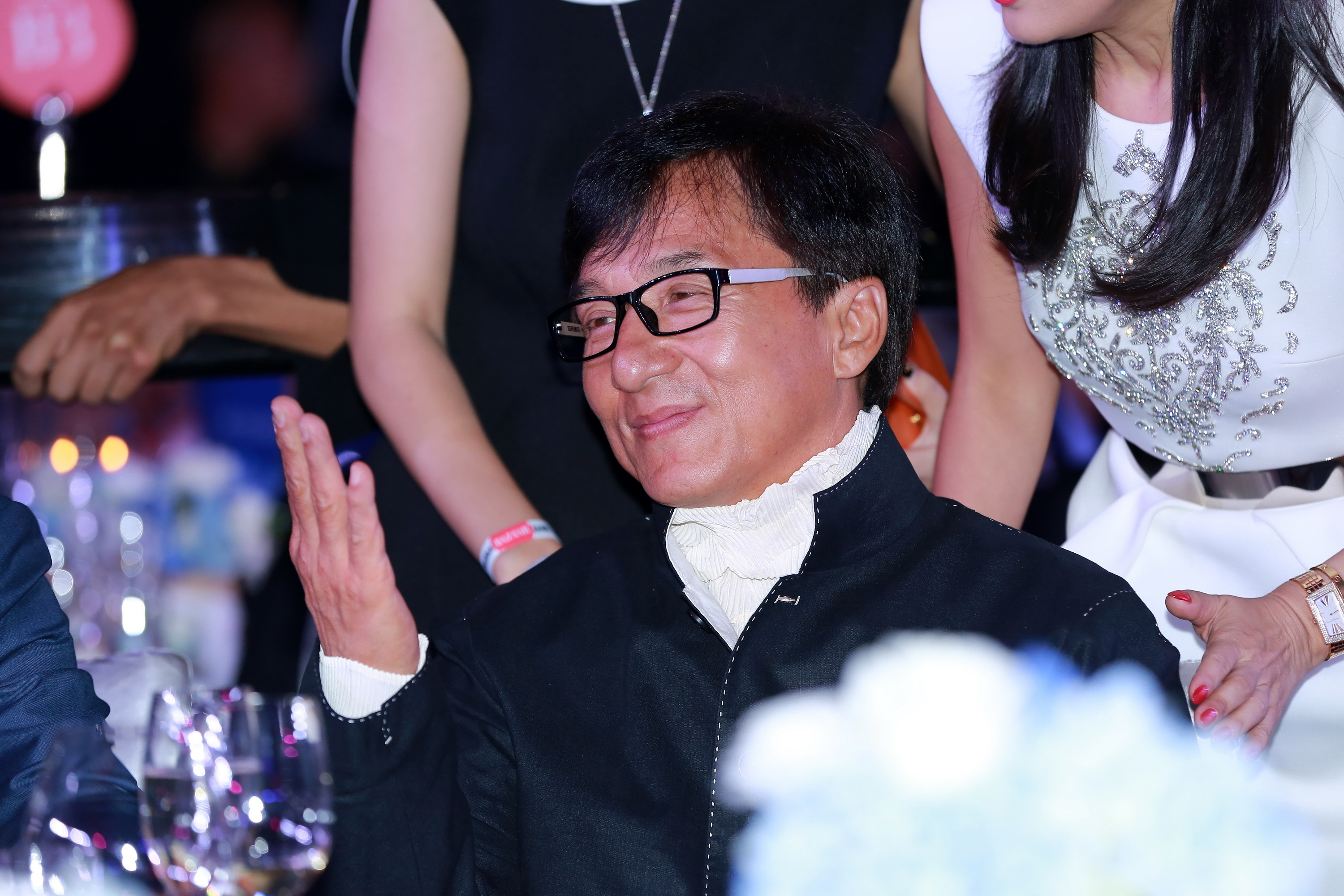 Actor Jackie Chan attends the 2014 Bazaar Charity Night in Beijing on Sept. 19, 2014