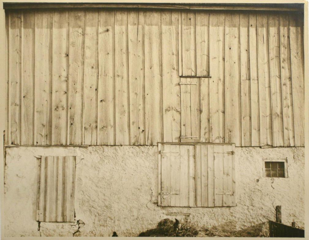 Side of White Barn (Bucks County), 1915 - To a photography lover, Bruce Silverstein's booth at Frieze Masters is like the gateway to Never-Never Land. He's got an André Kertész's 1965 MacDougal Alley gelatin silver print, he's got a 1926 Alfred Stieglitz Equivalent... But what impressed me most was seeing a print of one of the most important American modernist masterpieces: Charles Sheeler's Side of White Barn, 1915. Yours for $1 million.