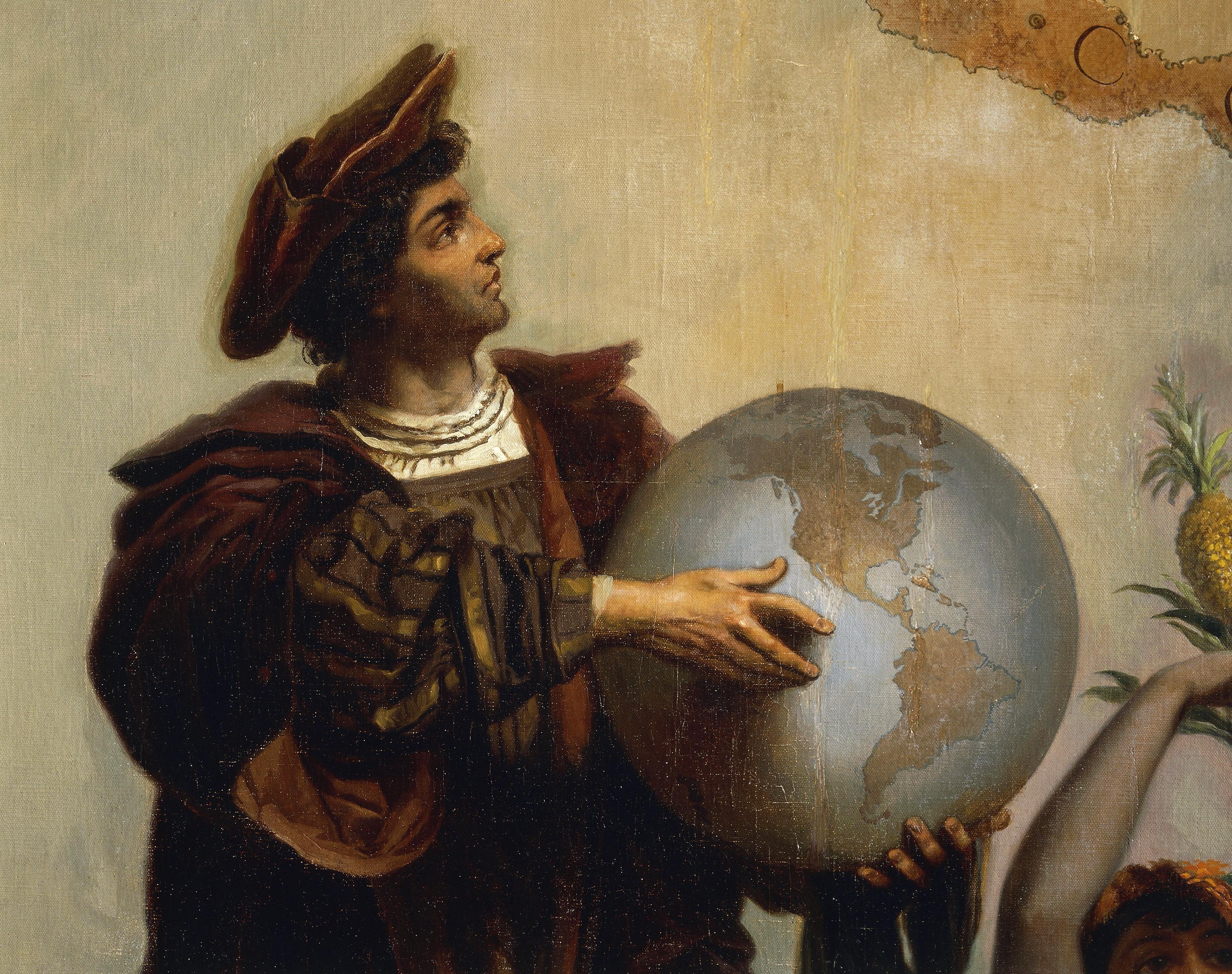 Christopher Columbus (1451-1506), painting by Peter Johann Nepomuk Geiger (1805-1880).