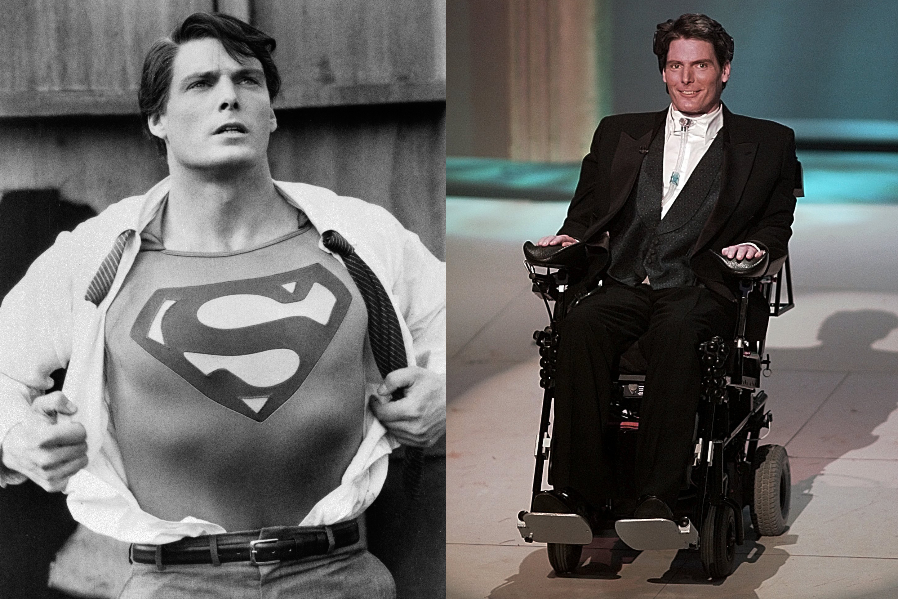 After starring in four Superman films throughout the late '70s and early '80s, Christopher Reeve was paralyzed in a horse riding accident in 1995. He continued to appear on TV, including in Smallville, until he passed away in 2004.