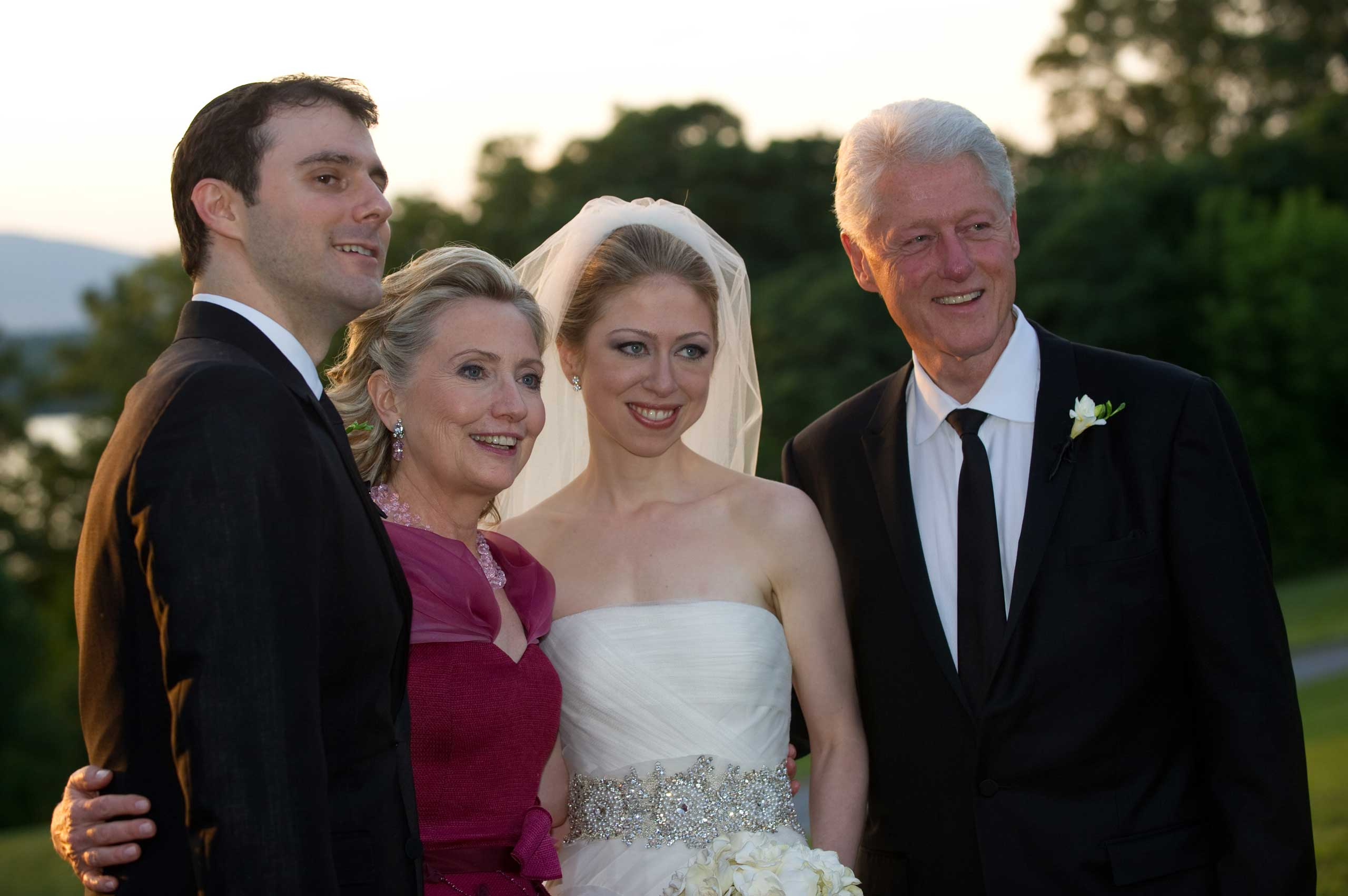 Born in 1980, Bill and Hillary's daughter Chelsea is married to investment banker Marc Mezvinsky, the son of two former members of Congress. On September 27, 2014, they added another member to the Clinton dynasty: their daughter, Charlotte Clinton Mezvinsky