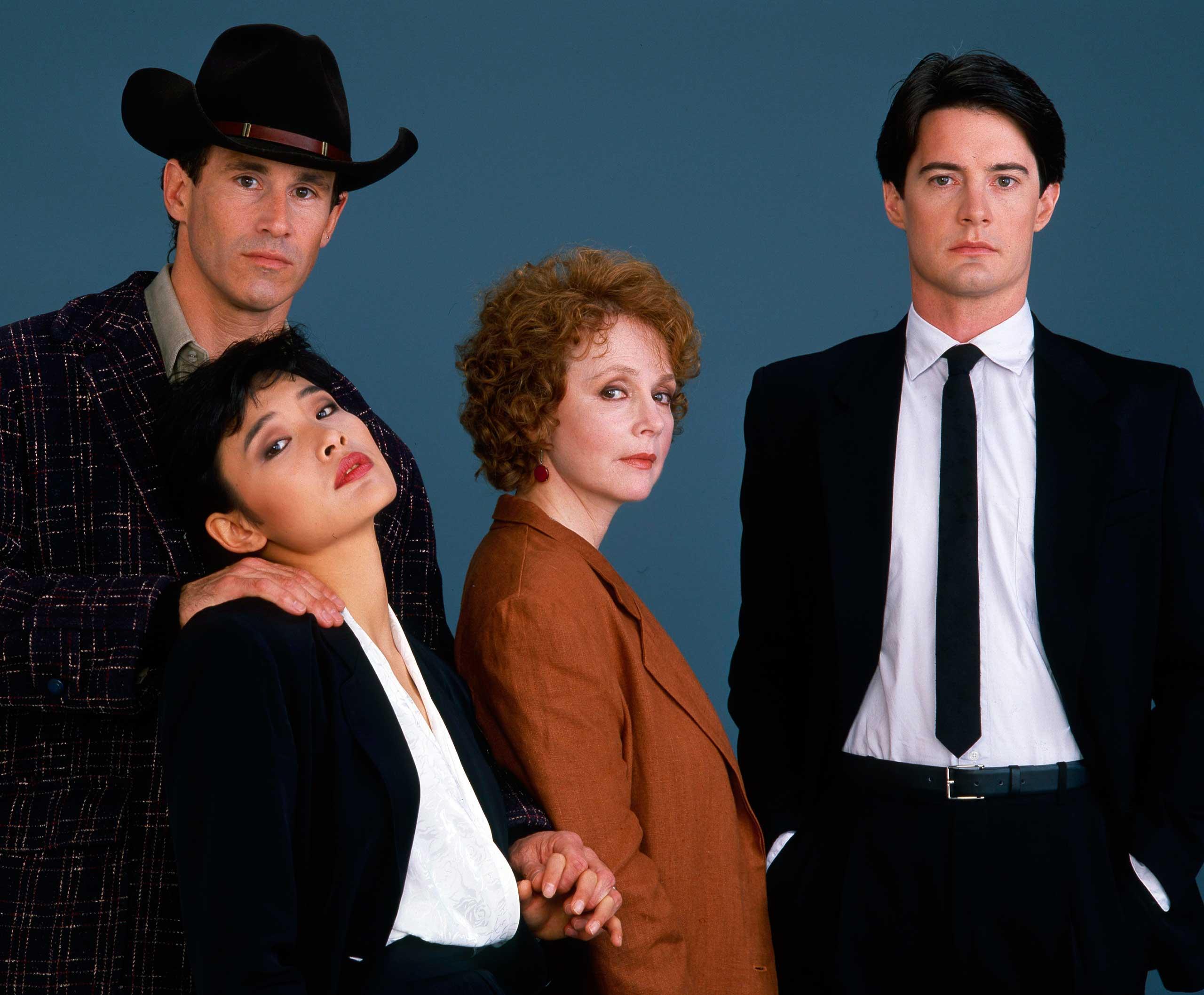 Michael Ontkean, Joan Chen, Piper Laurie, Kyle MacLachlan, 1989.