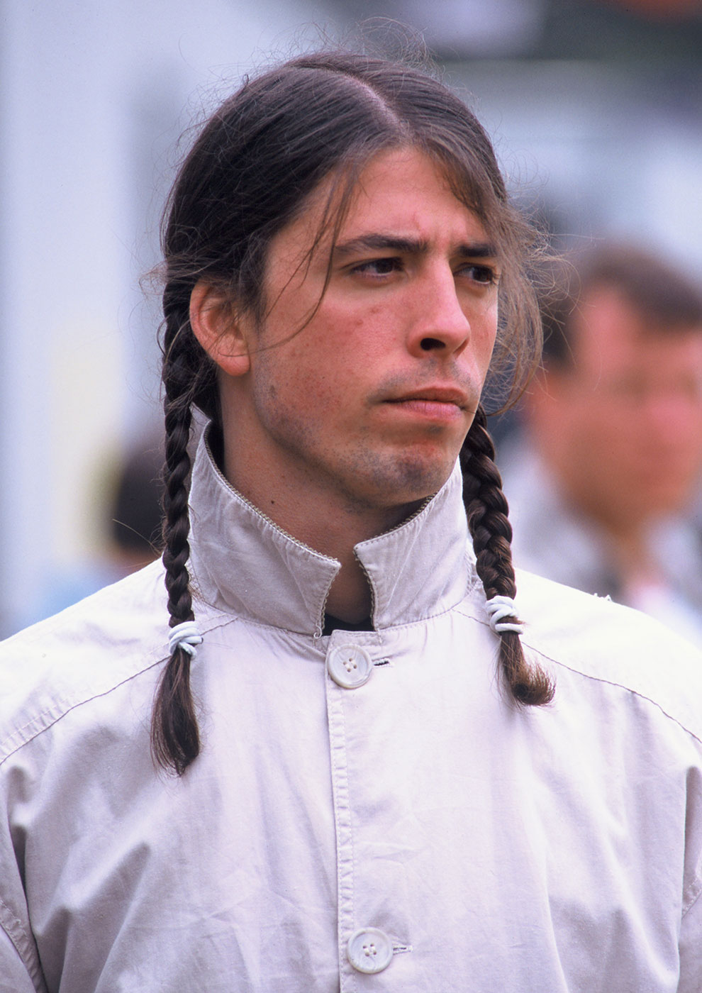 Dave Grohl of the Foo Fighters backstage at The Tibetan Freedom Concert 1996 held at the Polo Fields in Golden Gate Park in San Francisco, California on June 16, 1995.