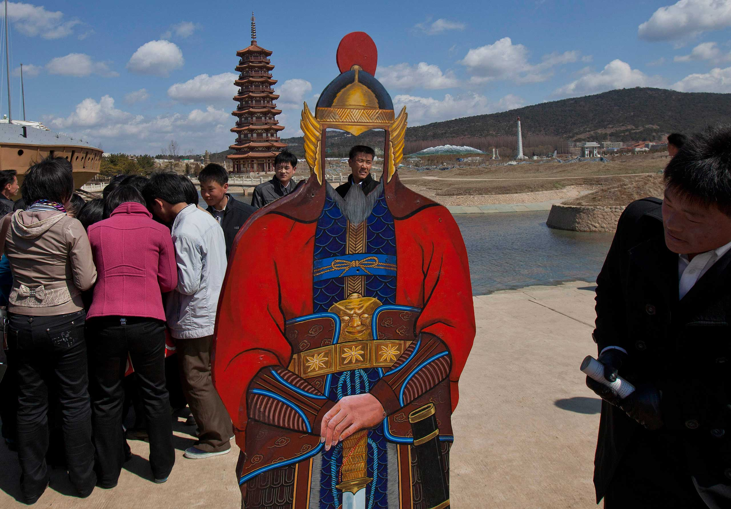 April 11, 2013. North Koreans visit the Pyongyang Folk Park on the outskirts of Pyongyang, North Korea.