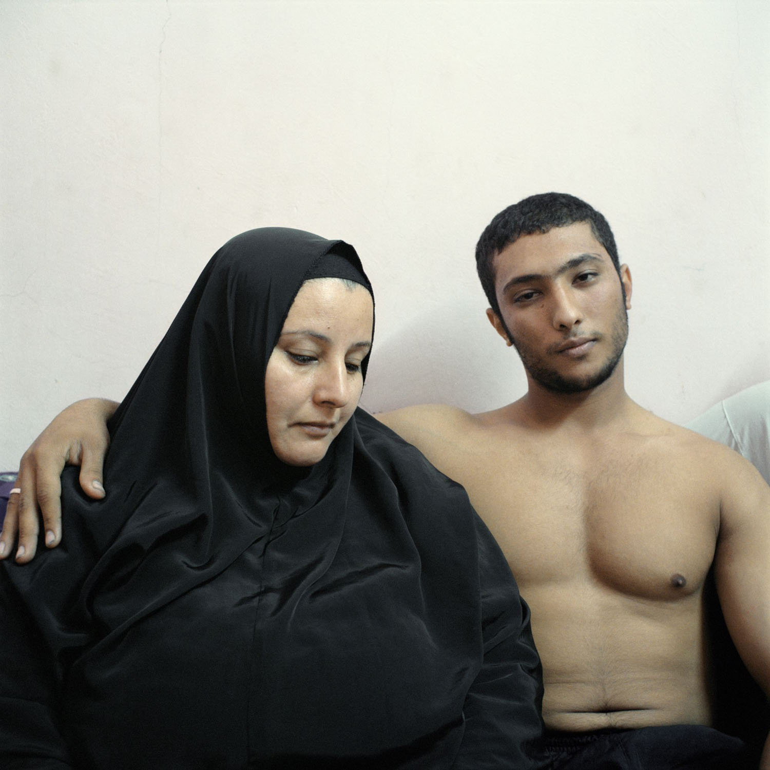 Mother and son. Ali and his mother, Cairo, Egypt, 2011.